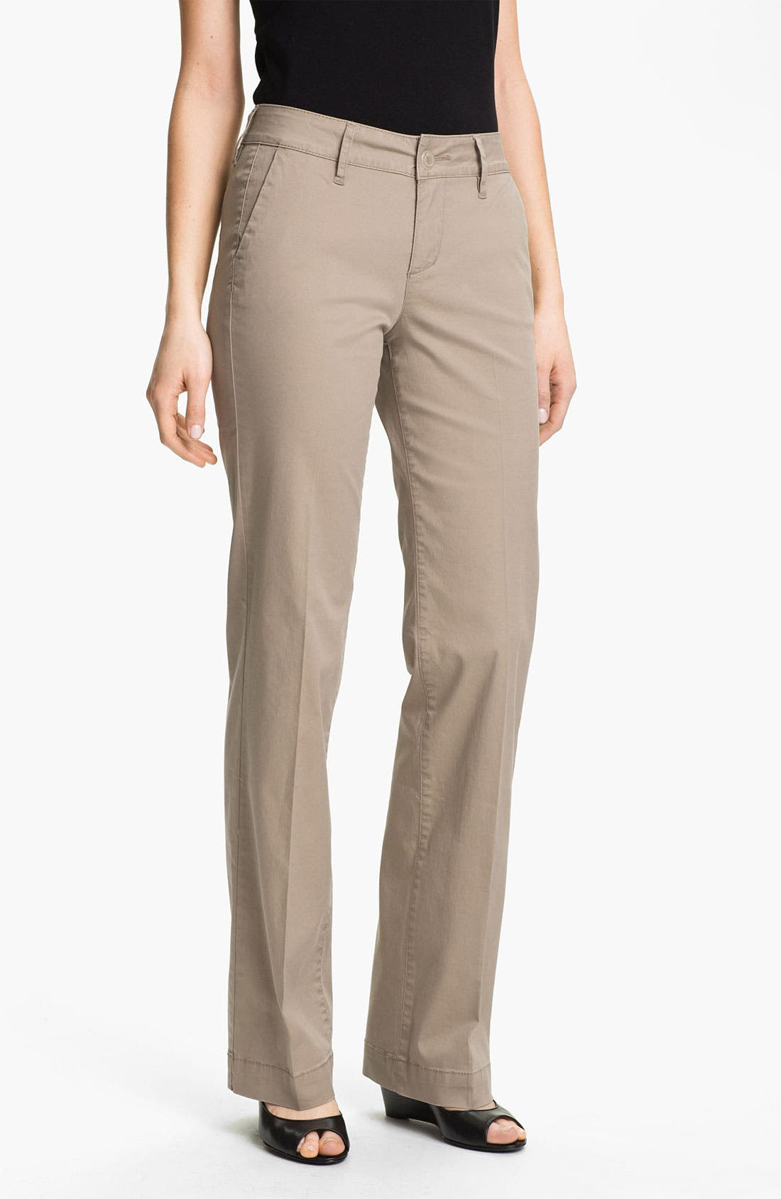 Alternate Image 1 Selected - Jag Jeans 'Maitland' Trousers (Petite)