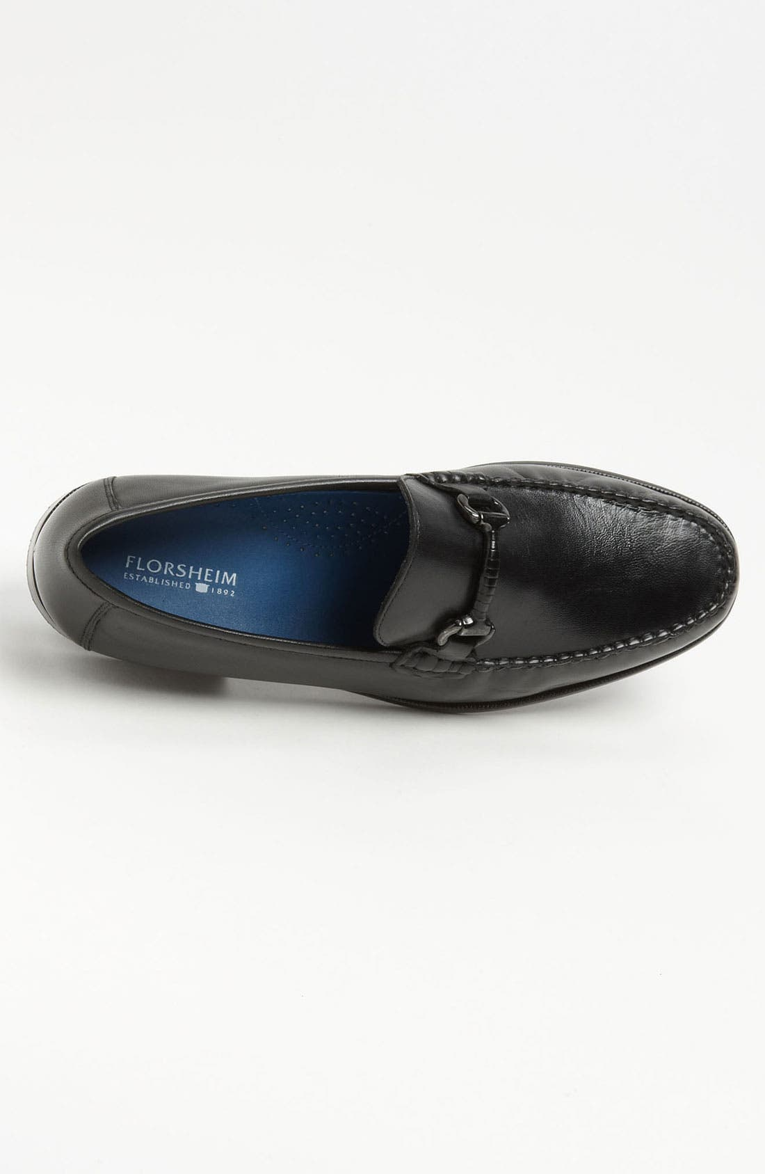 'Sarasota' Bit Loafer,                             Alternate thumbnail 3, color,                             Black Smooth