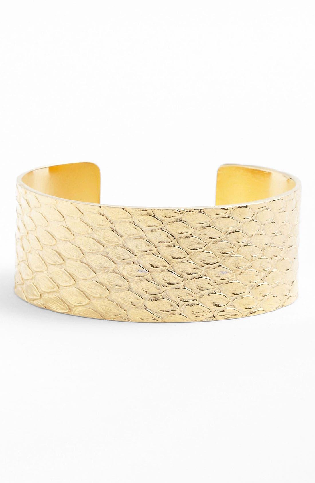 Alternate Image 1 Selected - Tom Binns Snakeskin Textured Cuff