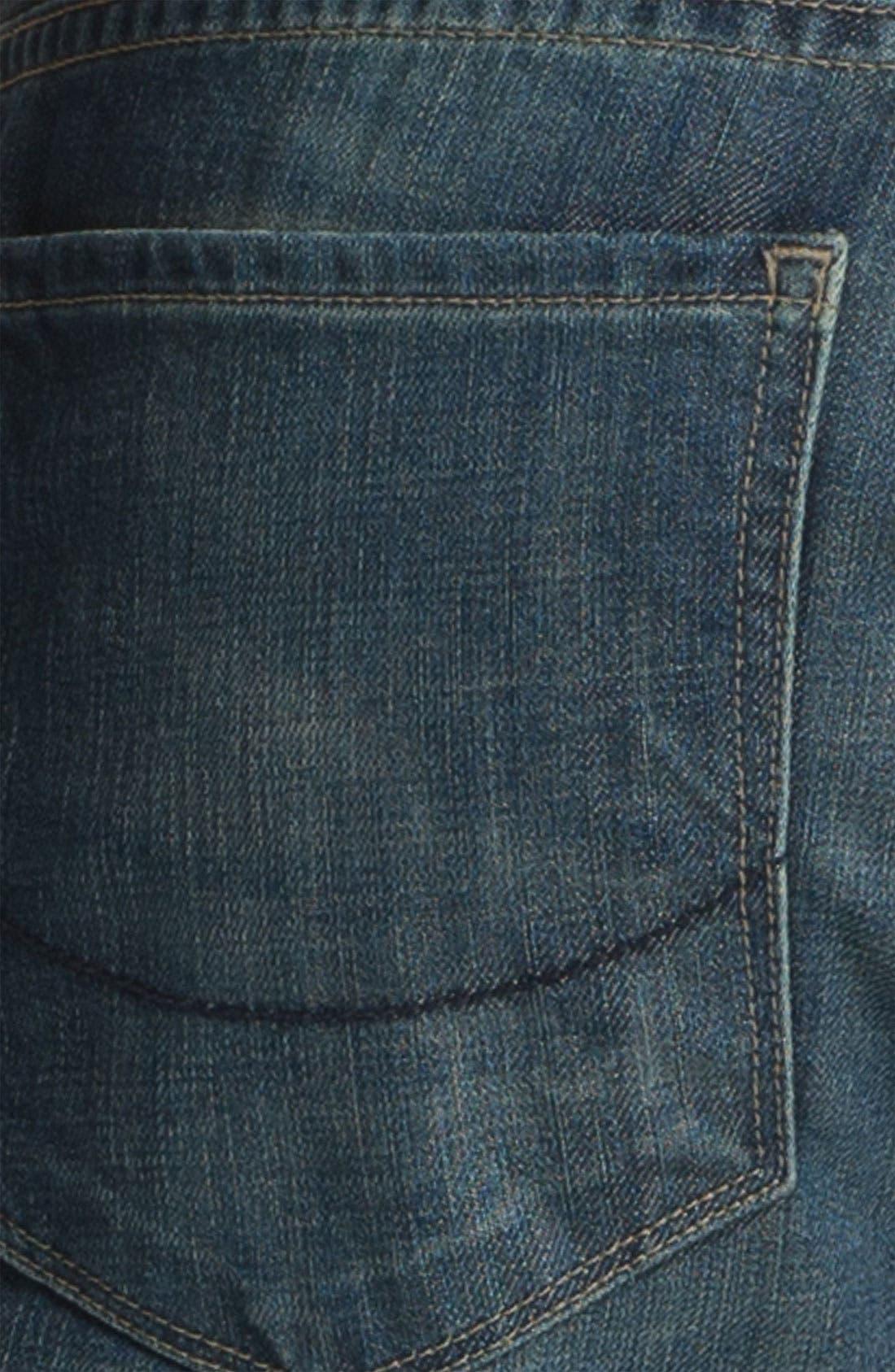 Alternate Image 4  - PAIGE 'Normandie' Slim Straight Leg Jeans (Lowtide)