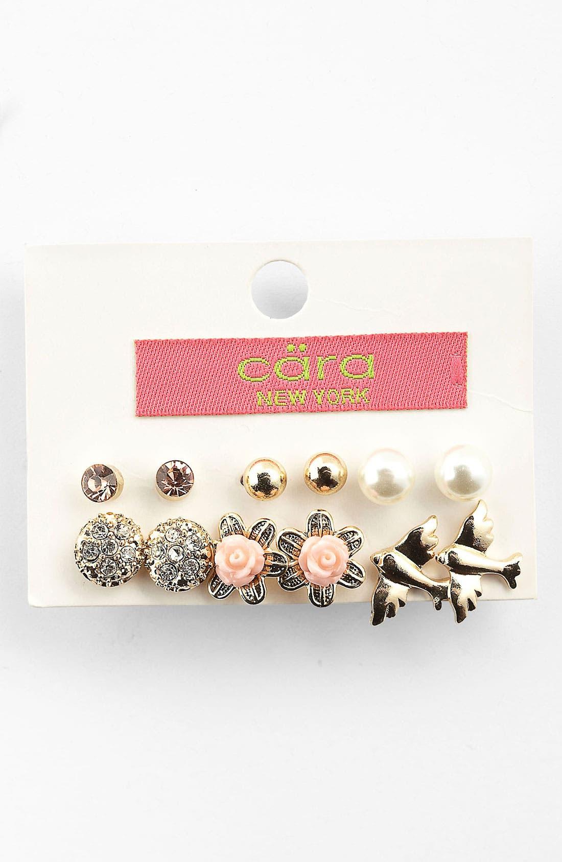 Main Image - Cara Assorted Earrings (Set of 6)