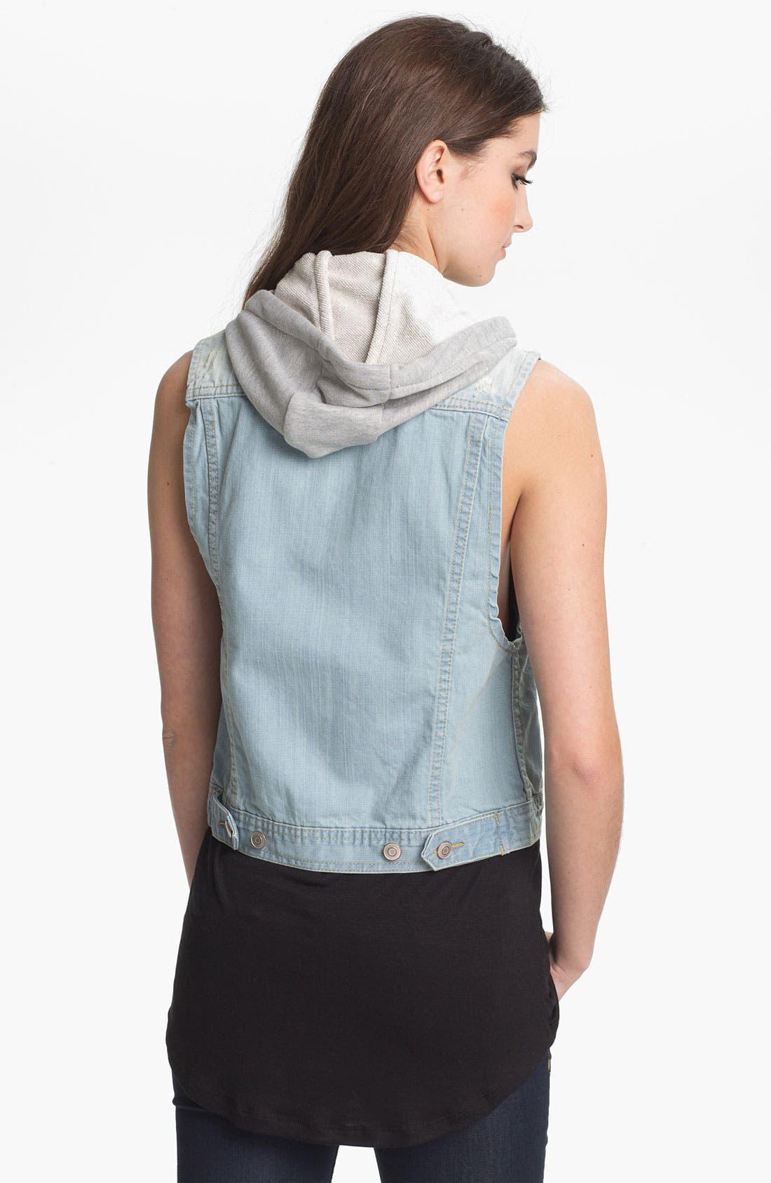 Alternate Image 2  - Thread & Supply Layered Denim Vest (Juniors)