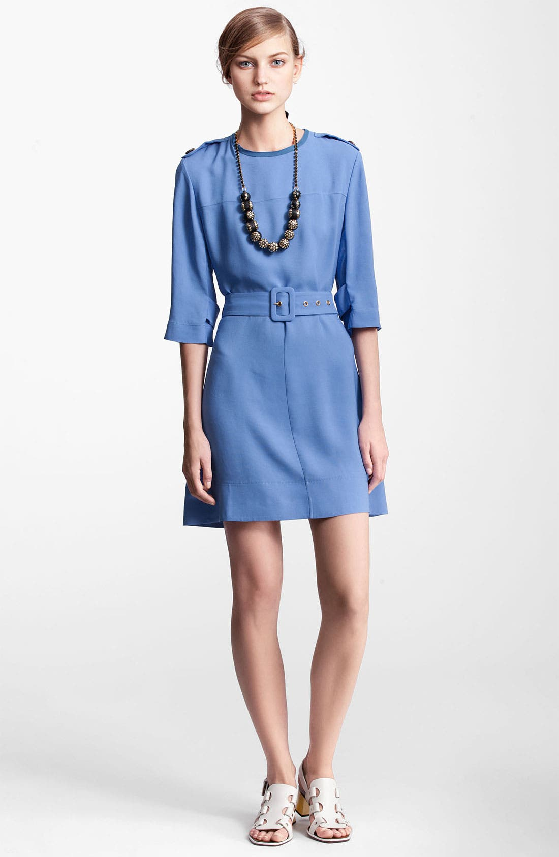 Main Image - Marni Edition Belted Crepe Dress