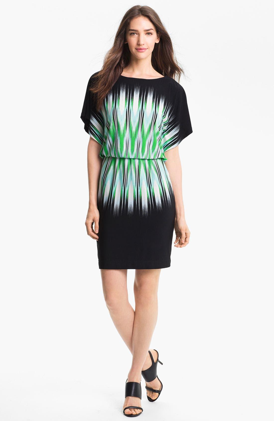 Main Image - Maggy London Print Blouson Jersey Dress