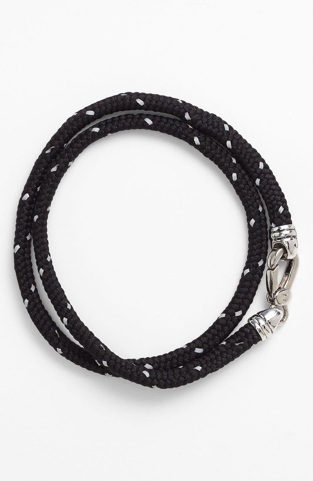 Wrap Cord Bracelet,                         Main,                         color, Black