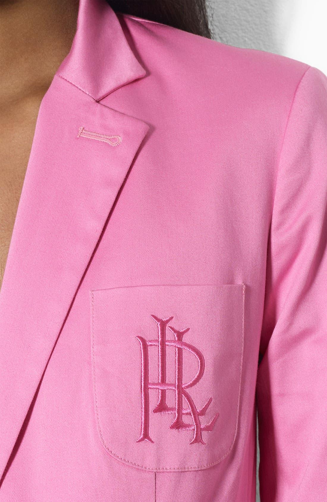 Alternate Image 3  - Lauren Ralph Lauren Logo Pocket Jacket