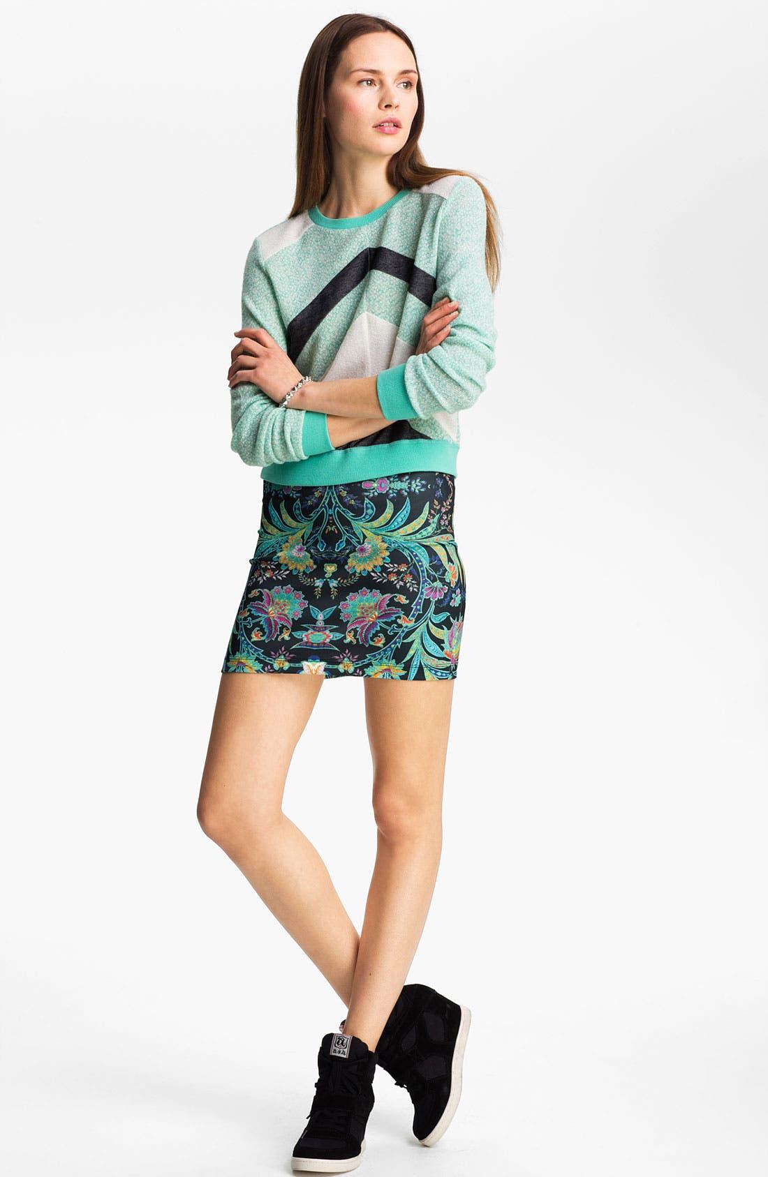 Alternate Image 2  - Lucca Couture Chevron Stripe Sweater