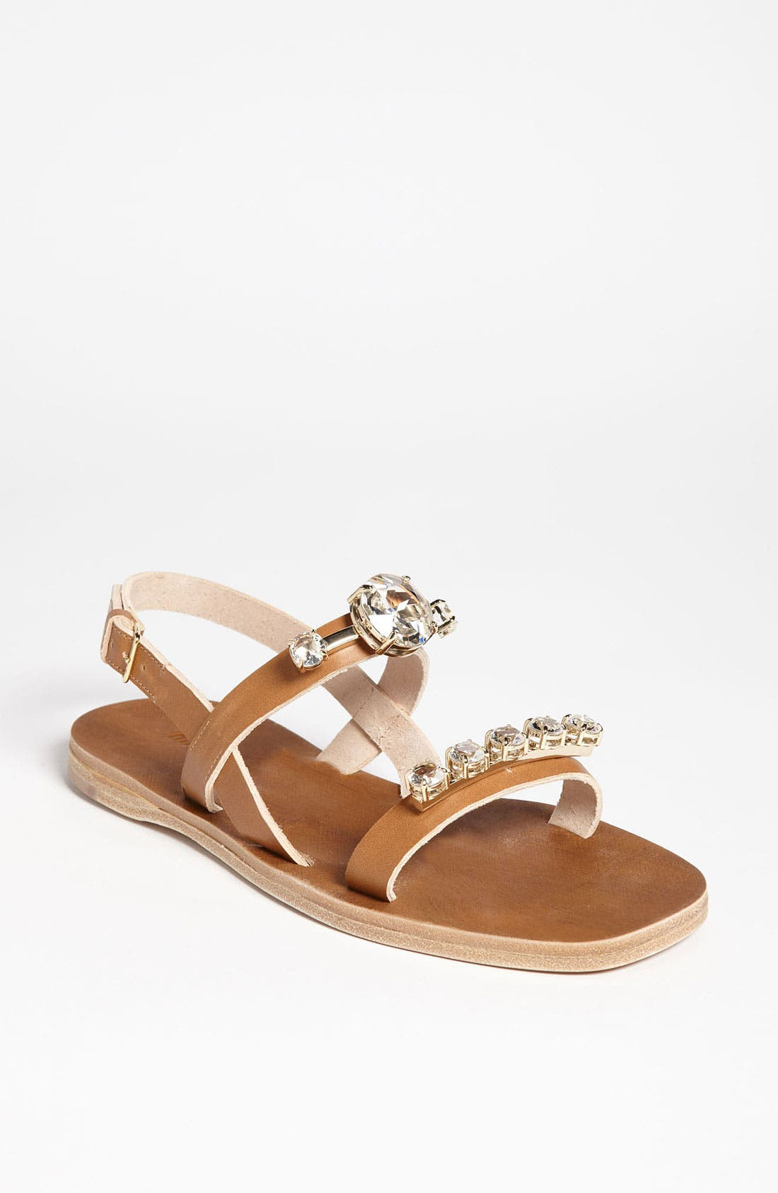 Main Image - Miu Miu Jeweled Sandal