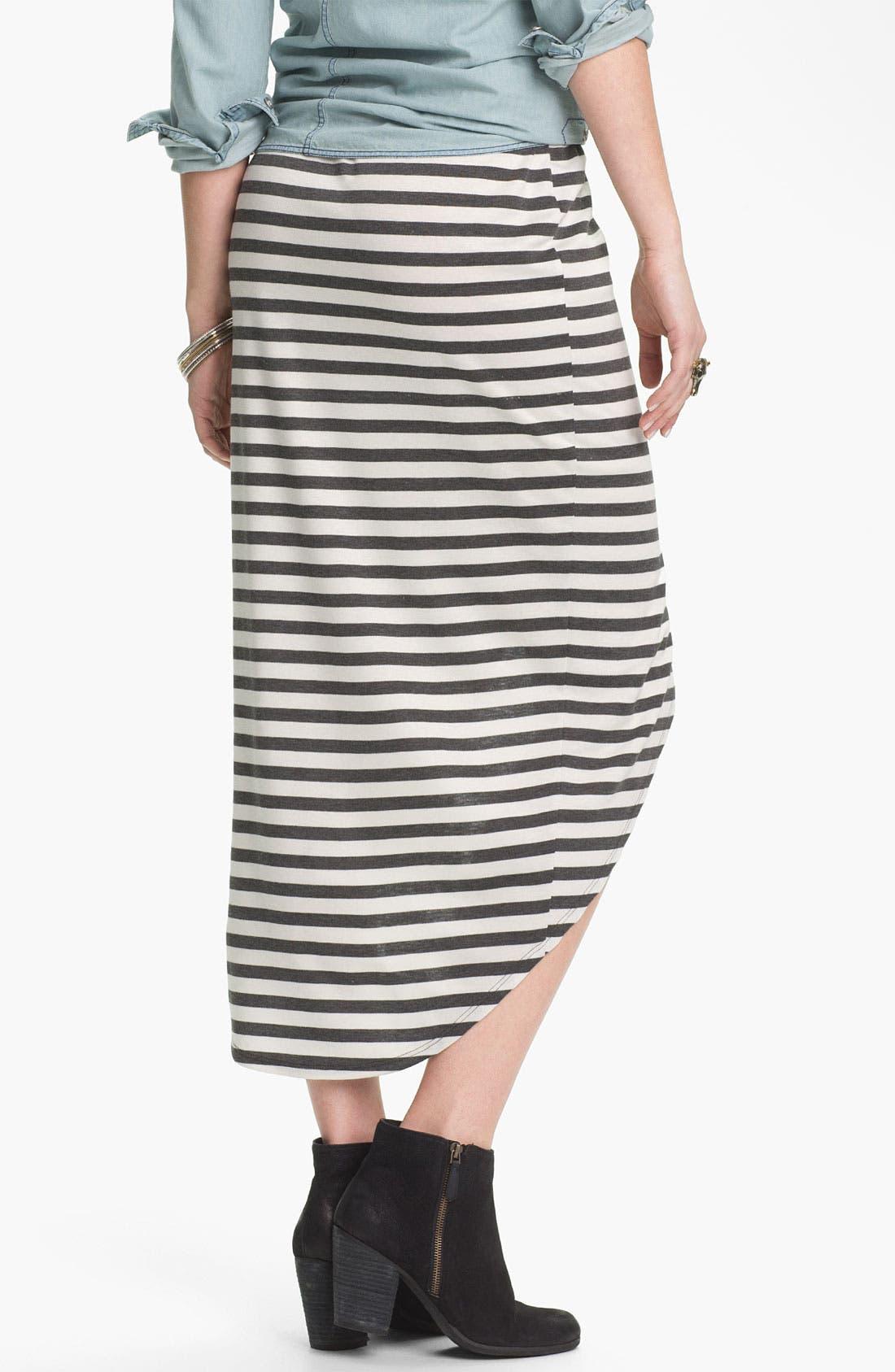 Alternate Image 2  - Lily White Print Tulip Skirt (Juniors)