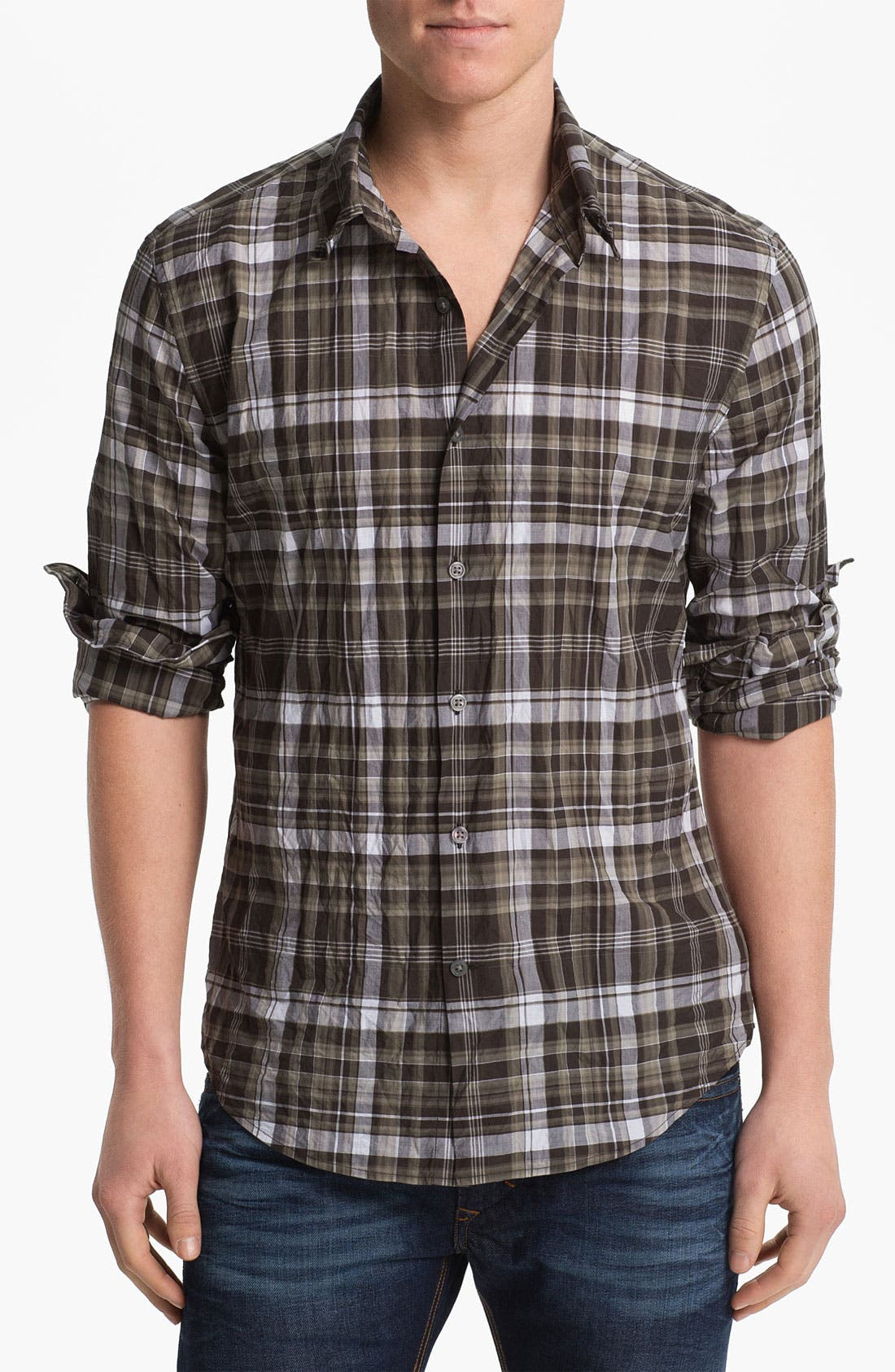 Main Image - John Varvatos Star USA Slim Fit Wire Collar Shirt