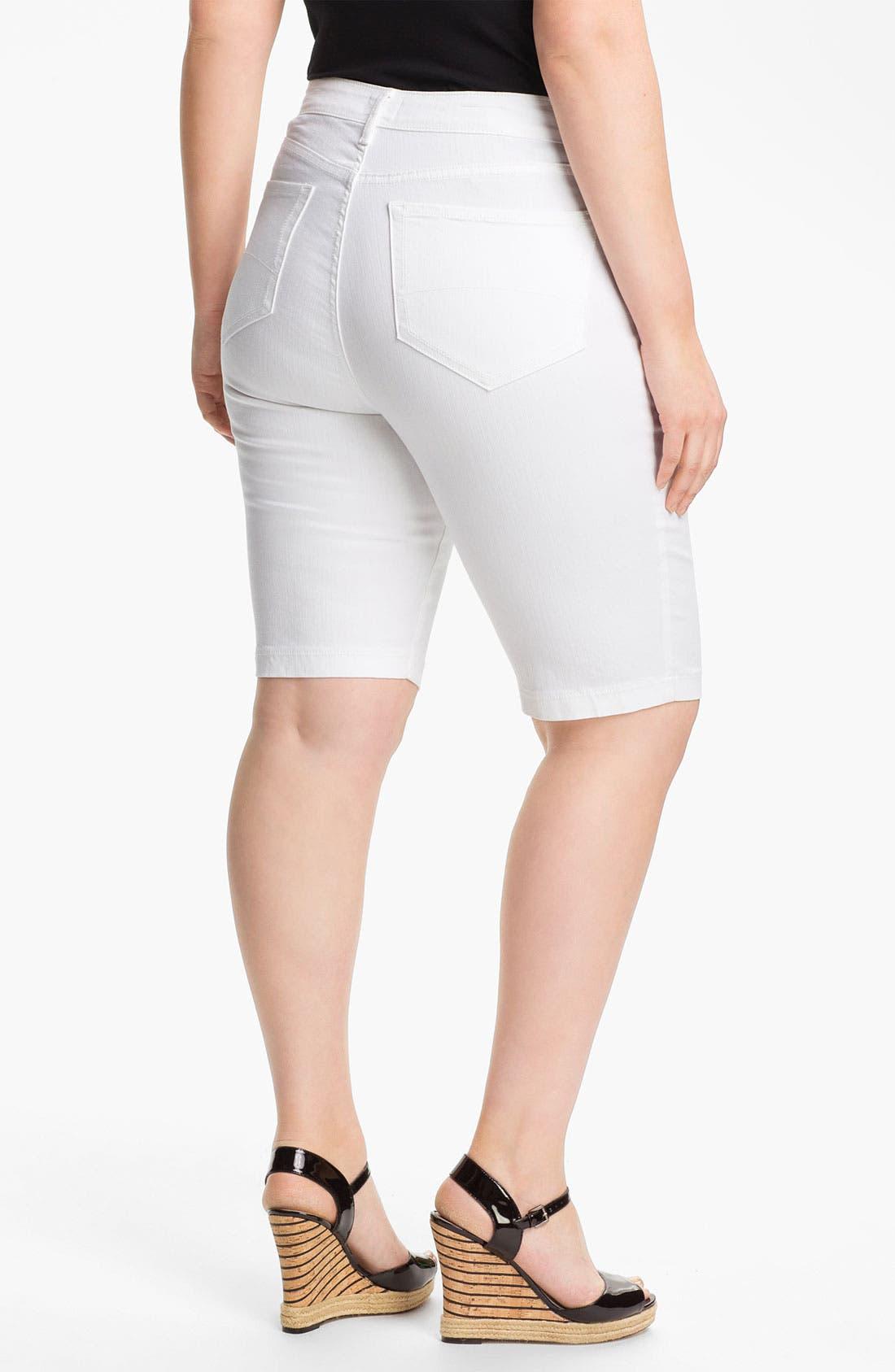Alternate Image 2  - NYDJ 'Helen' Stretch Denim Shorts (Plus Size)
