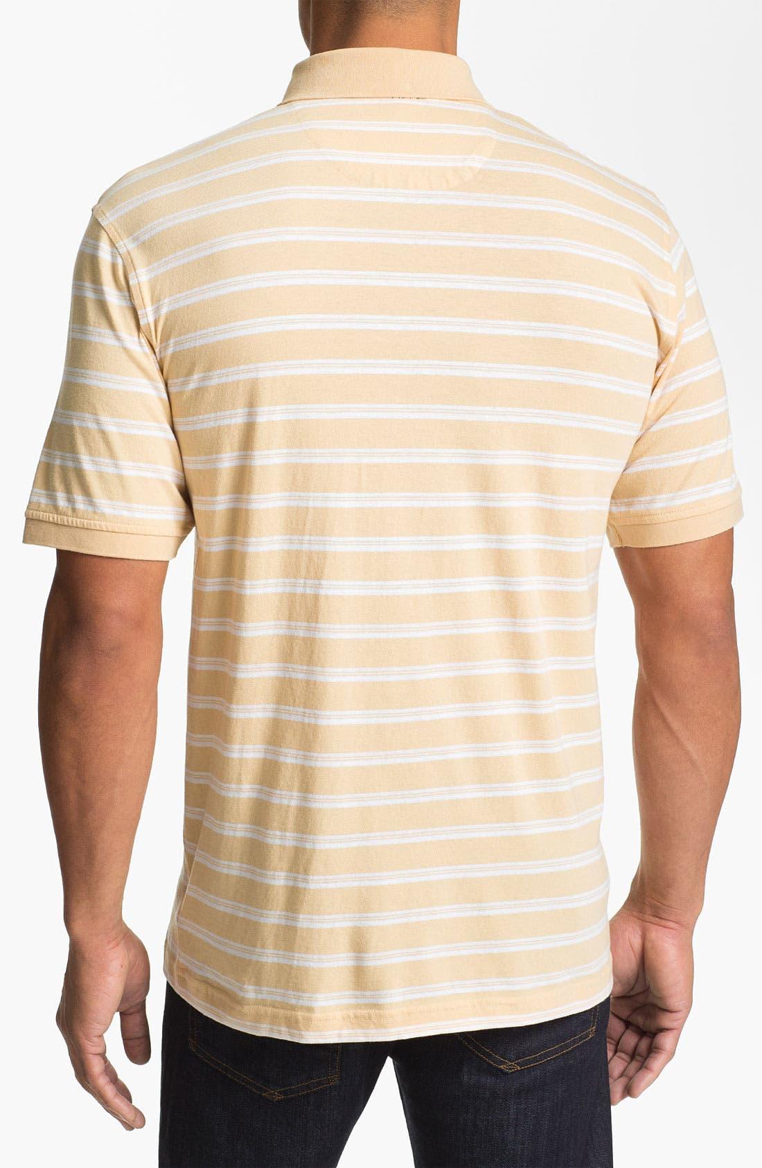 Alternate Image 2  - Cutter & Buck 'Woodlawn Stripe' Polo (Big & Tall)