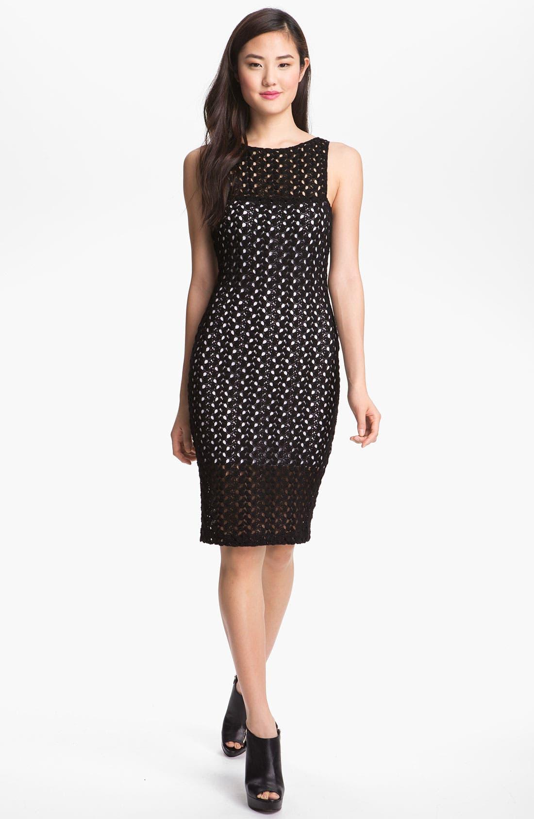Alternate Image 1 Selected - Black Halo 'Marianne' Crochet Lace Sheath Dress