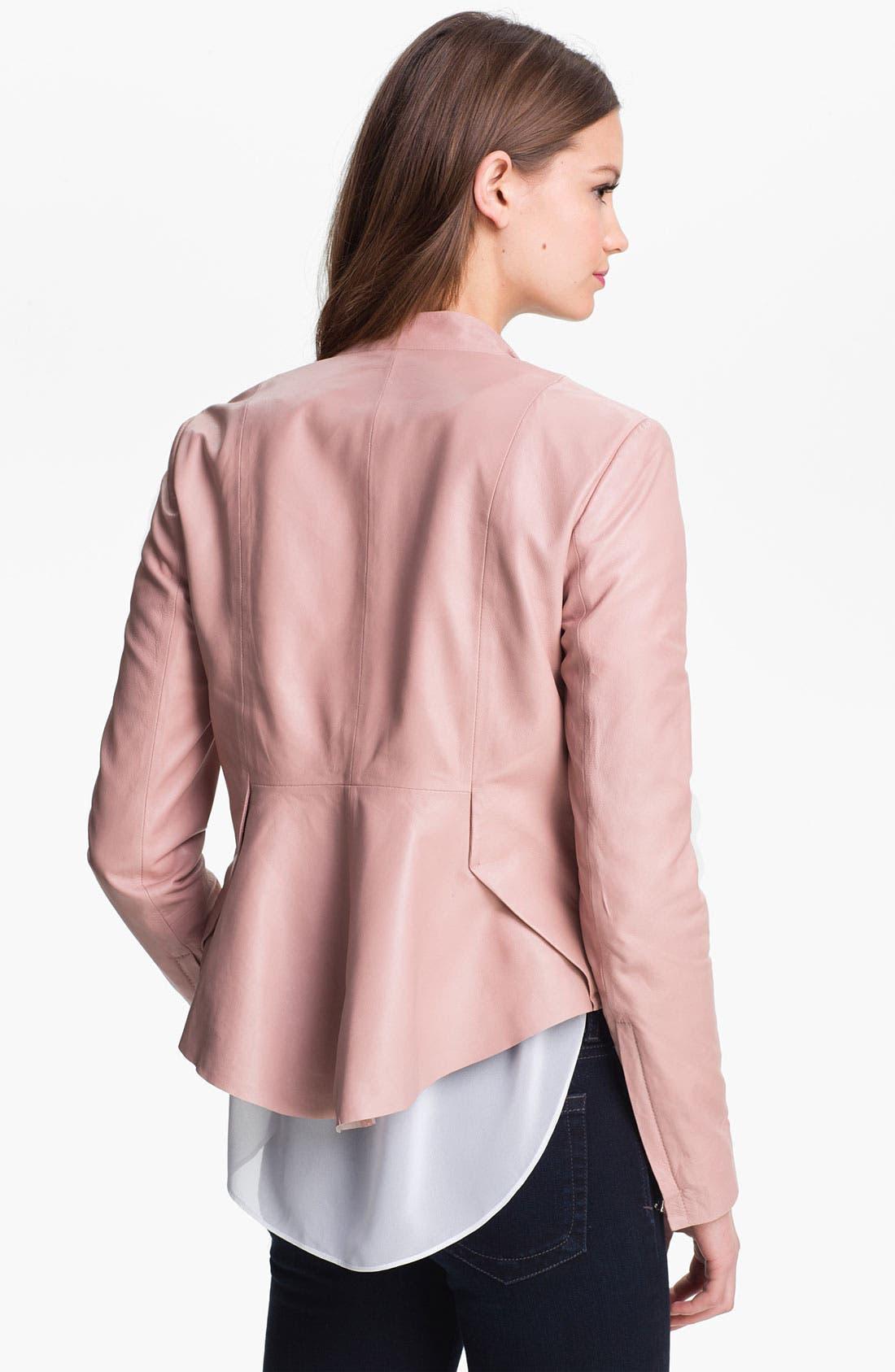 Alternate Image 2  - Kenneth Cole New York 'Lilian' Leather Jacket