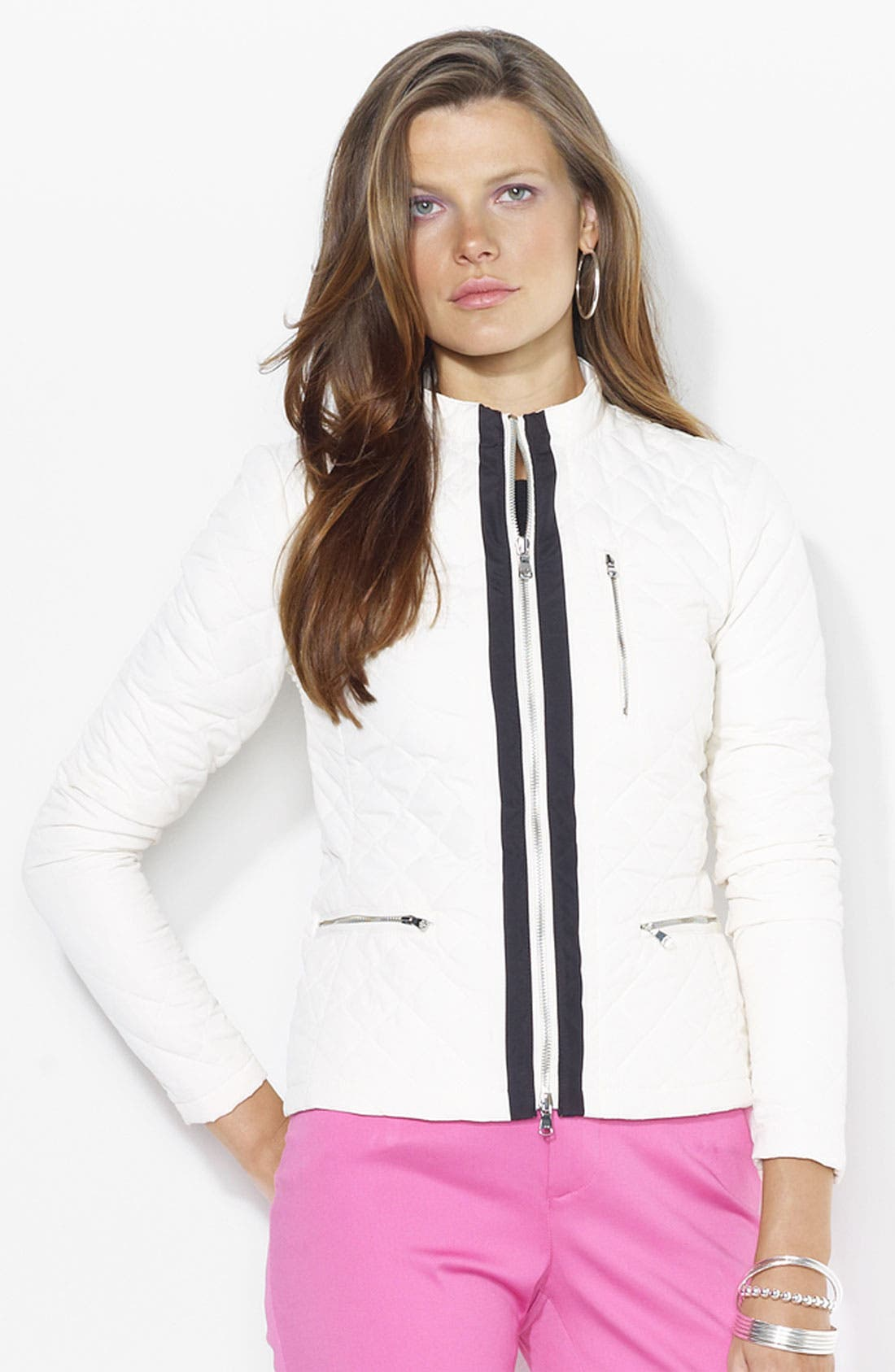 Alternate Image 1 Selected - Lauren Ralph Lauren Quilted Jacket (Petite) (Online Only)