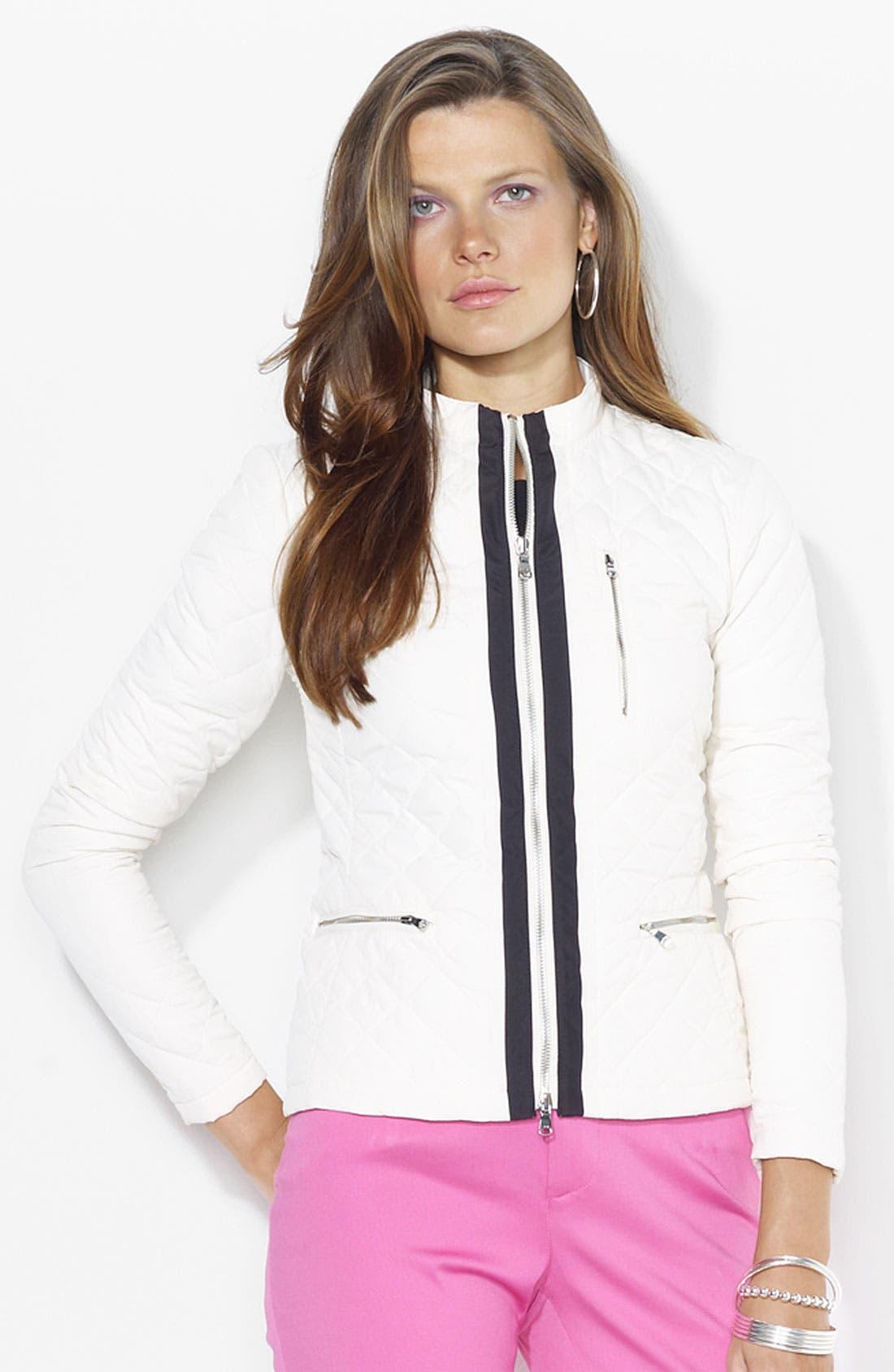 Main Image - Lauren Ralph Lauren Quilted Jacket (Petite) (Online Only)