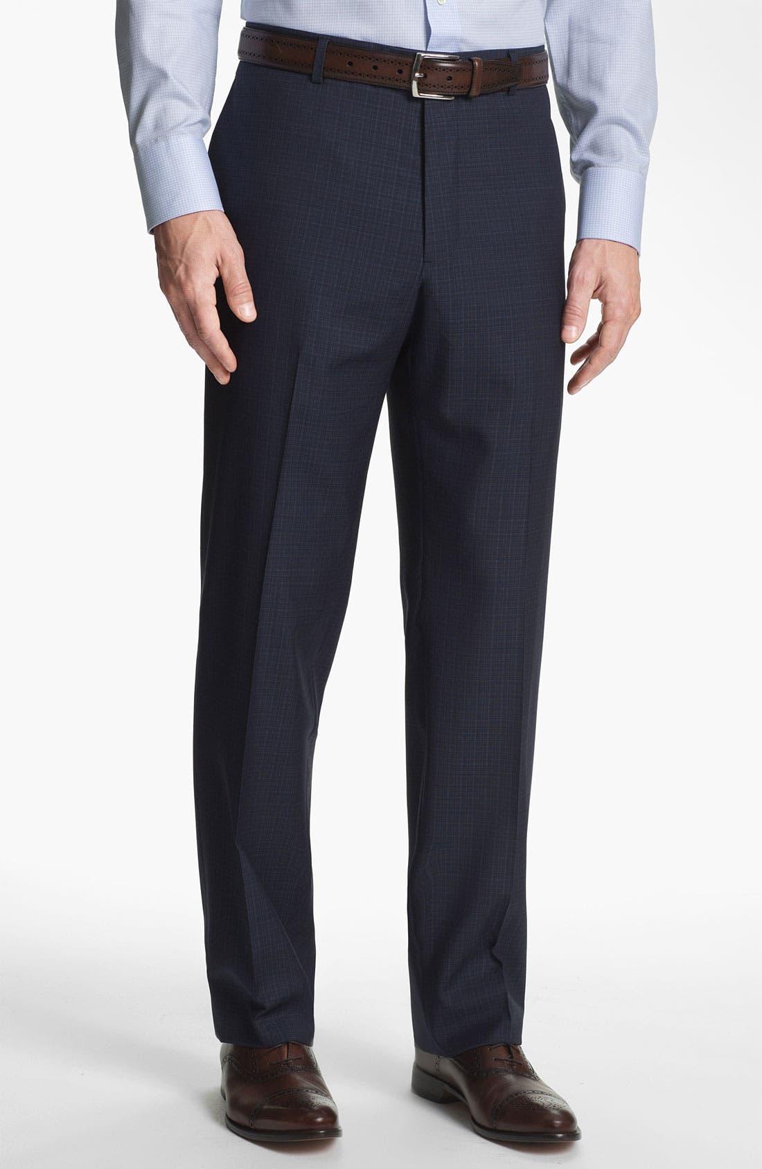 Alternate Image 5  - Joseph Abboud Trim Fit Check Wool Suit