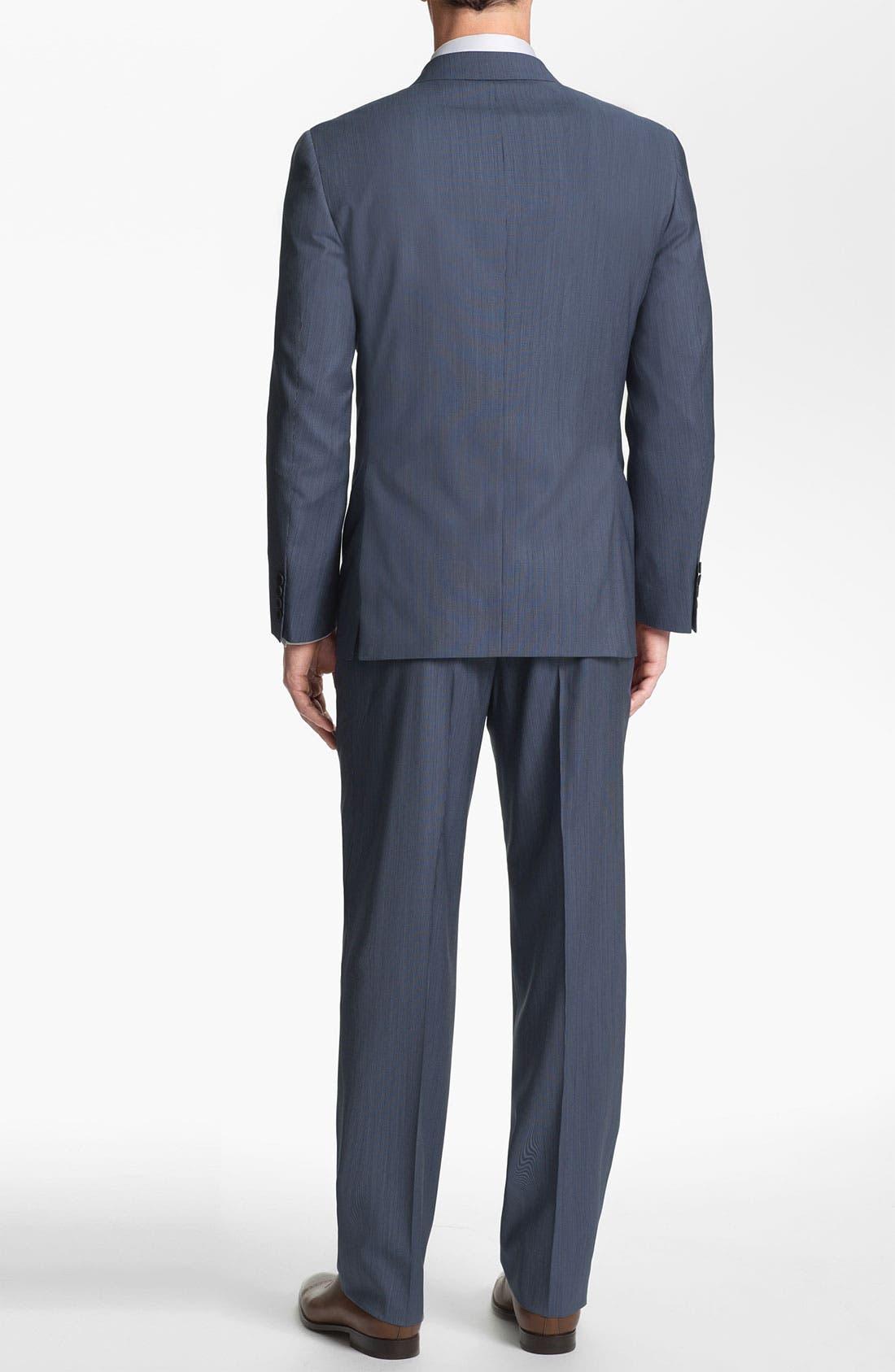 Alternate Image 3  - Joseph Abboud 'Profile' Trim Fit Stripe Wool Suit