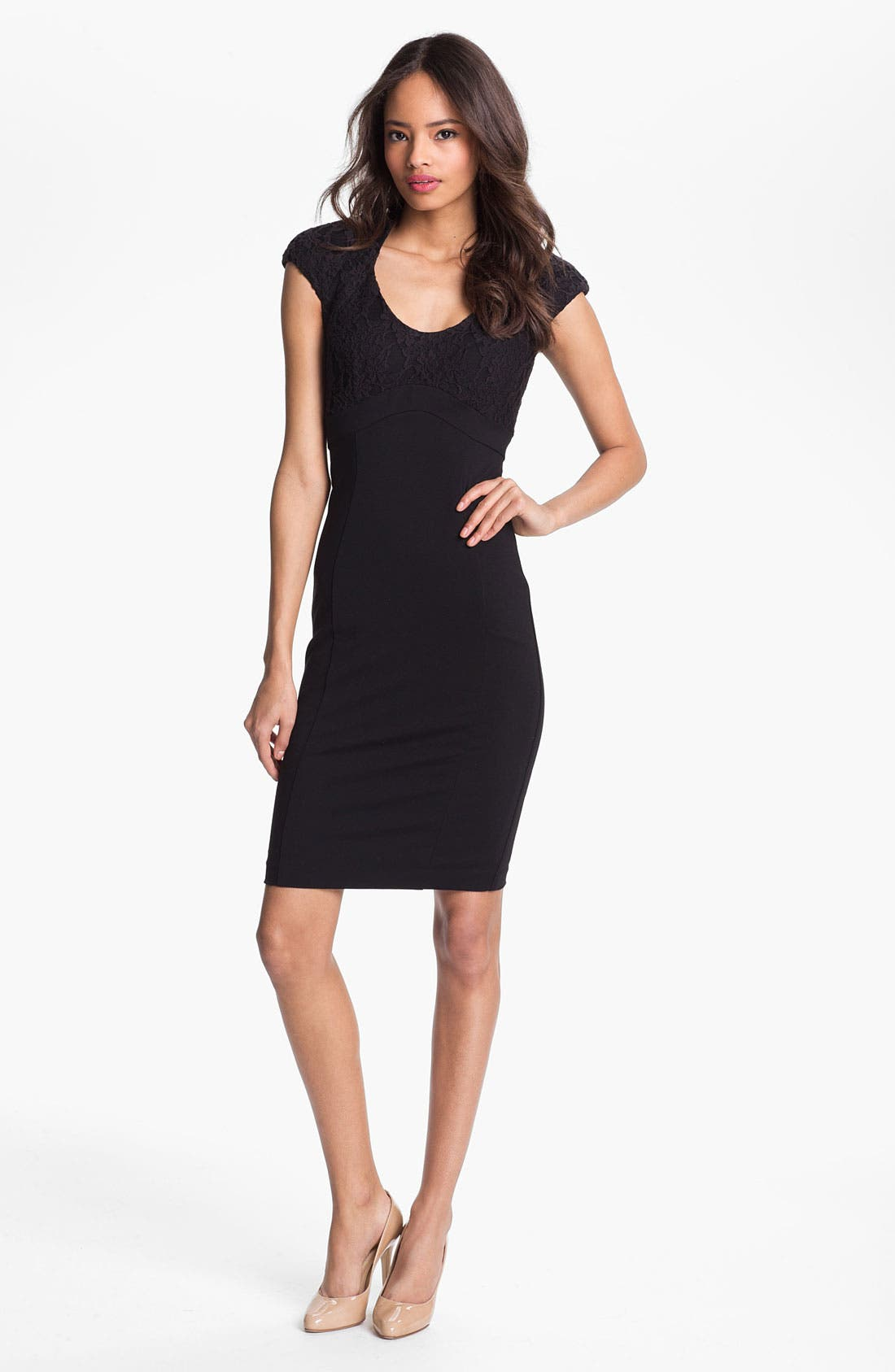 Alternate Image 1 Selected - Ted Baker London Lace Detail Sheath Dress (Online Only)