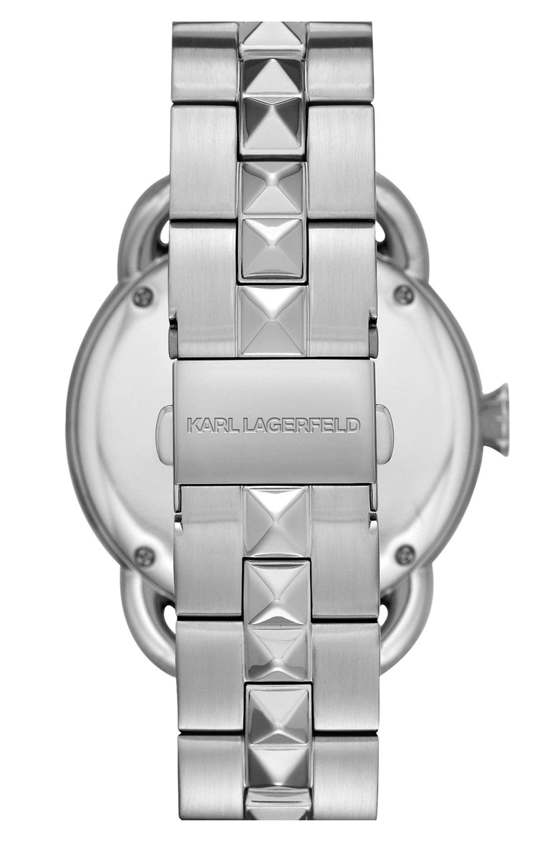 Alternate Image 2  - KARL LAGERFELD 'Pop' Bracelet Watch, 40mm