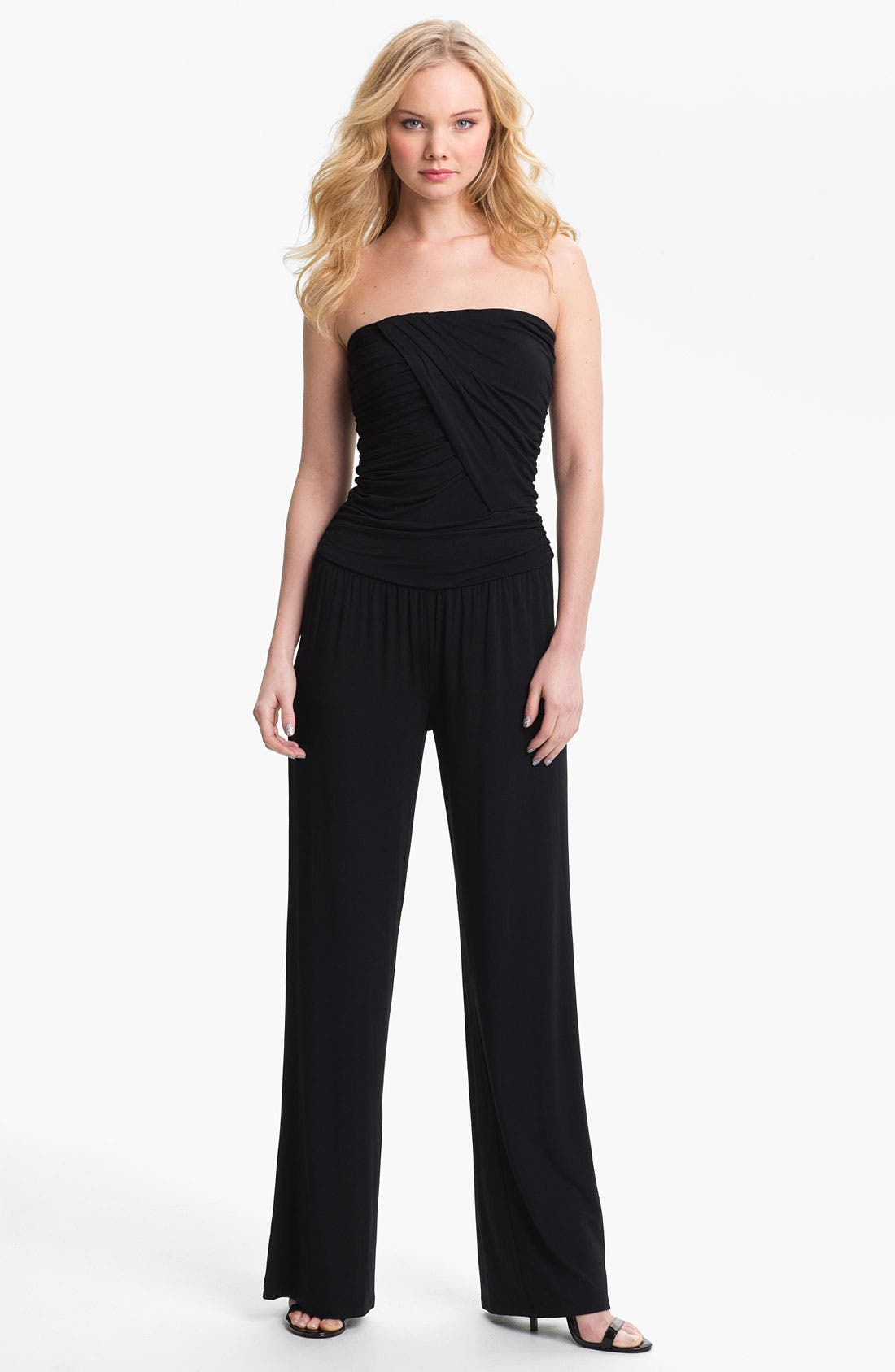 Alternate Image 1 Selected - Tart 'Mariah' Strapless Ruched Jumpsuit