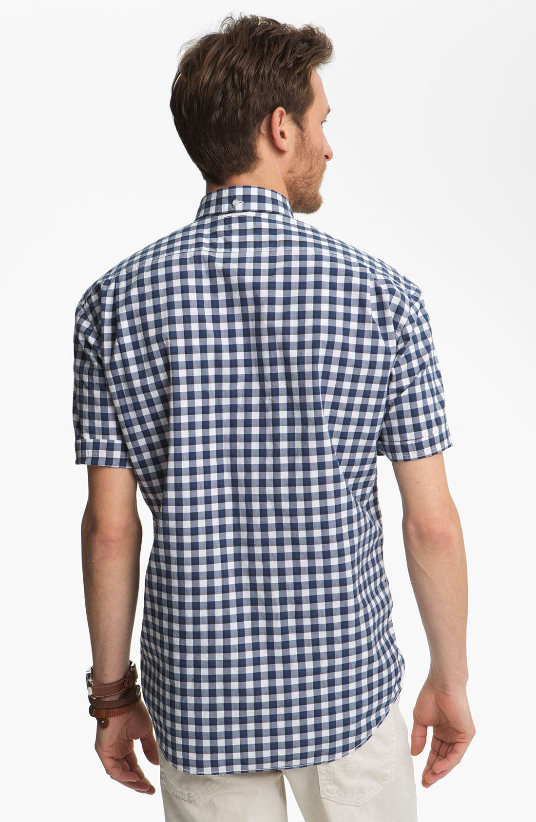 Alternate Image 2  - Lacoste Gingham Check Woven Shirt