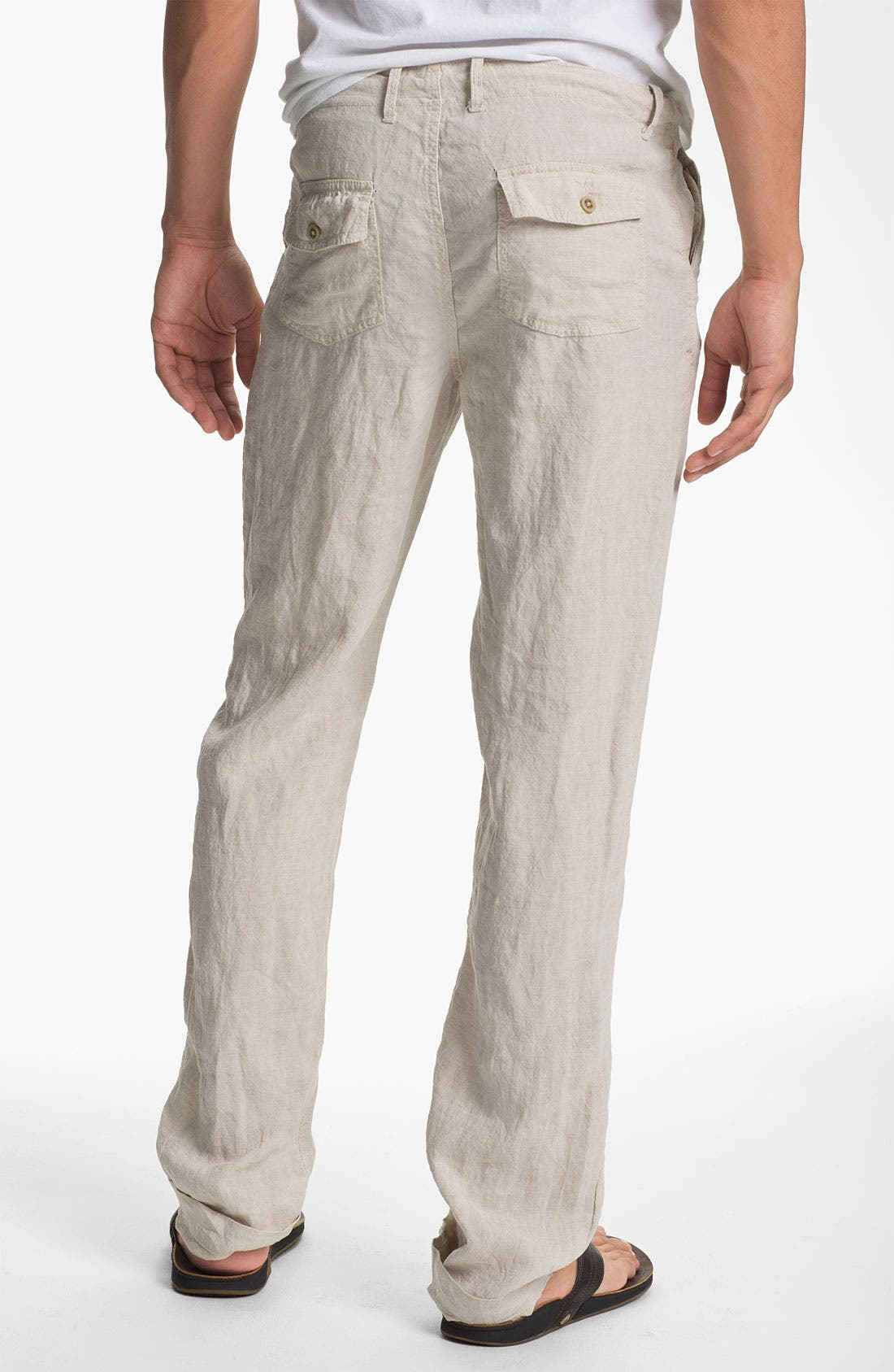 Alternate Image 2  - Just A Cheap Shirt 'Miami' Straight Leg Linen Pants