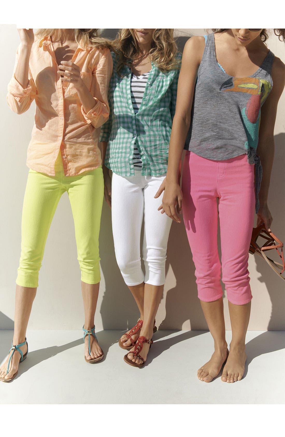Alternate Image 3  - Hue 'Neon Chinos' Capri Leggings