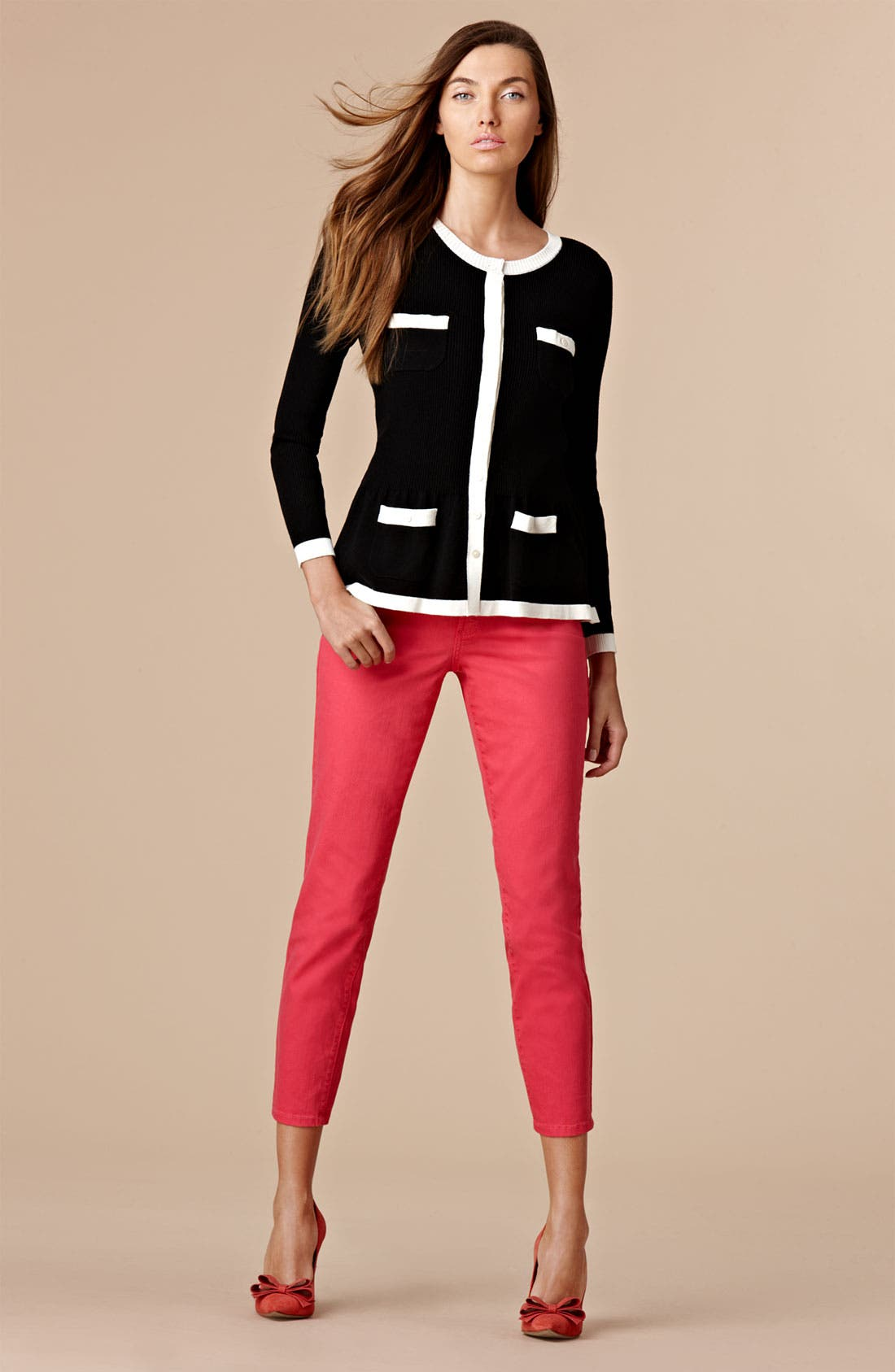 Alternate Image 4  - Nic + Zoe Two Tone Peplum Sweater Jacket