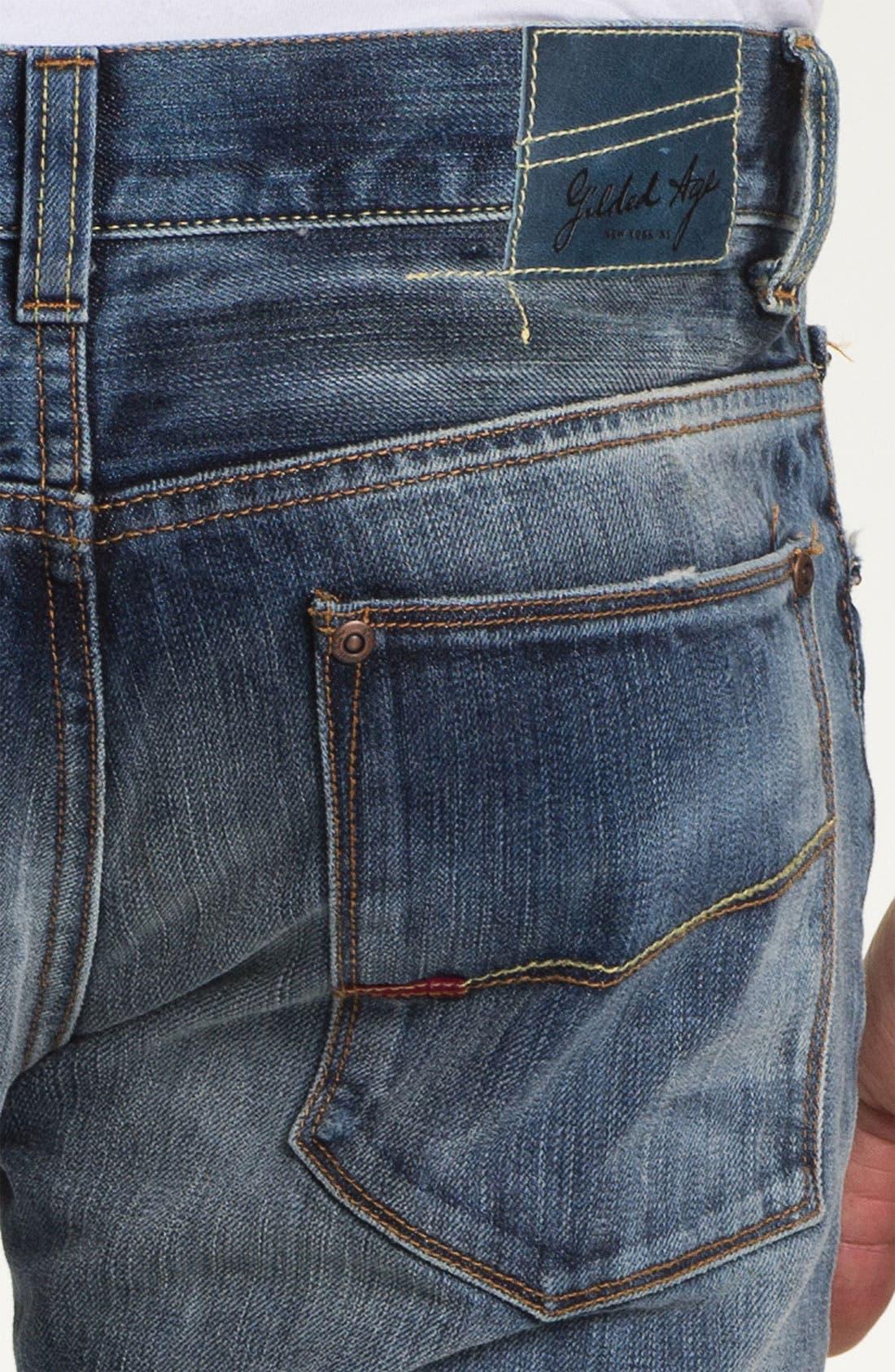 Alternate Image 4  - Gilded Age 'Baxten' Slim Fit Jeans (Light)