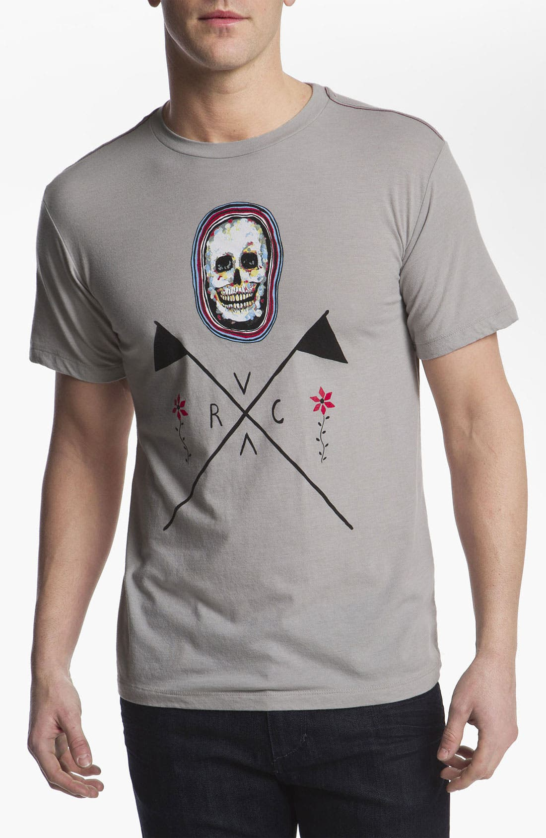 Alternate Image 1 Selected - RVCA 'Skull Flag' T-Shirt