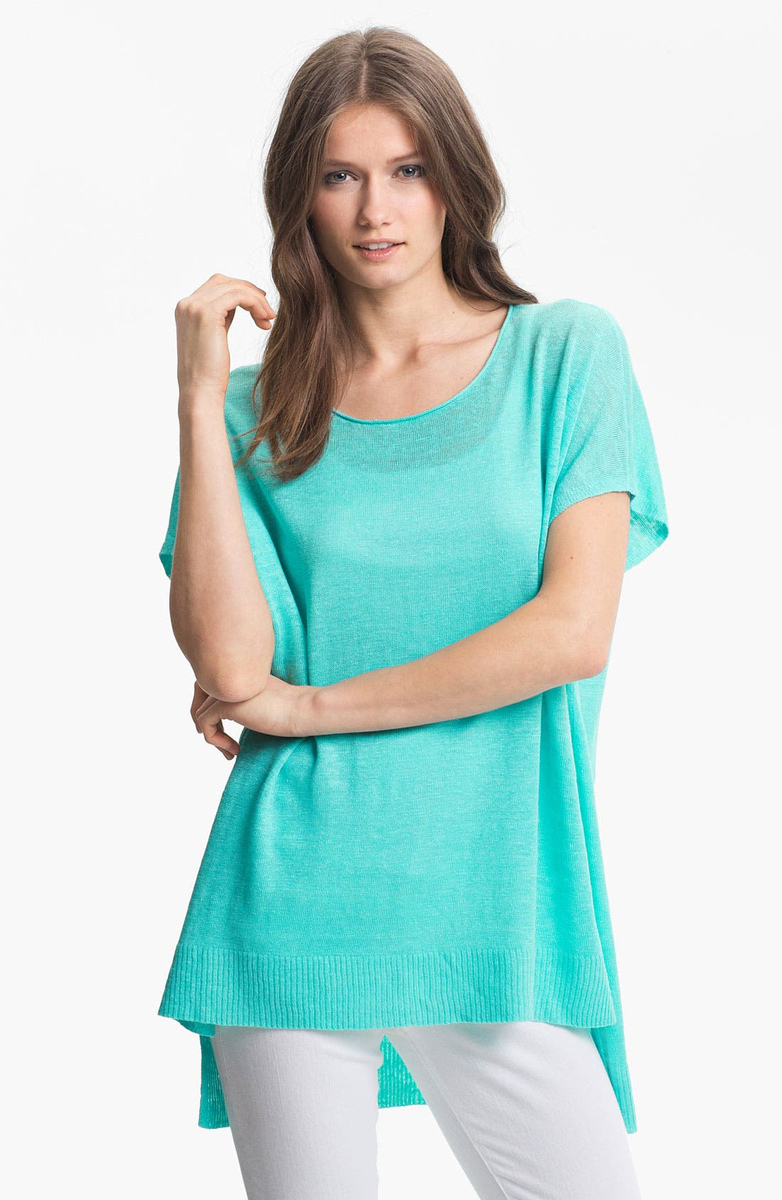 Alternate Image 1 Selected - Eileen Fisher Tunic, Ankle Pants & Scarf