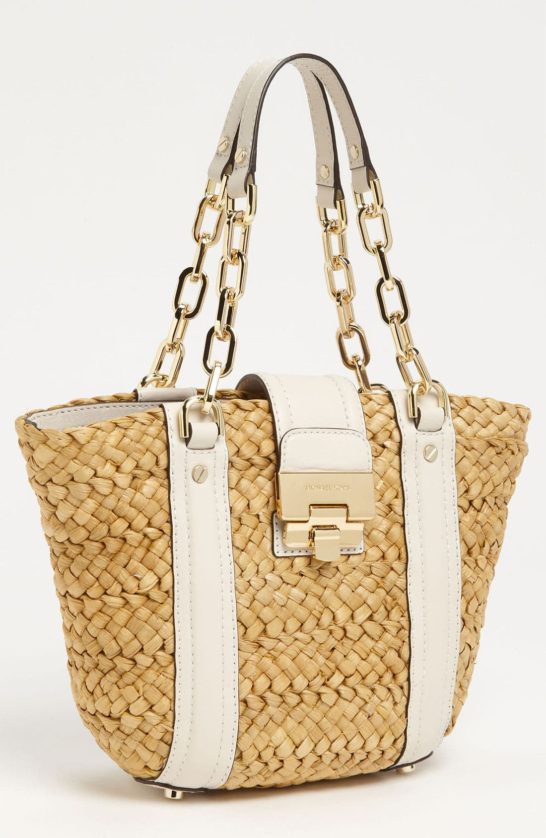 Alternate Image 1 Selected - MICHAEL Michael Kors 'Deneuve - Medium' Straw Tote