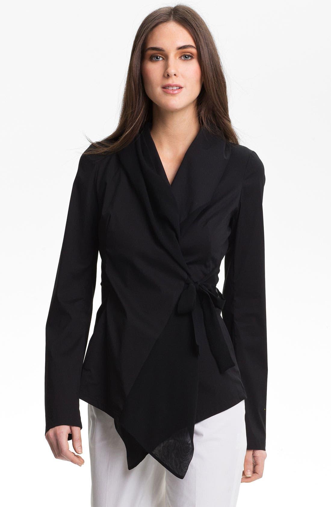 Main Image - Lafayette 148 New York 'Bethany' Italian Stretch Cotton Blend Jacket