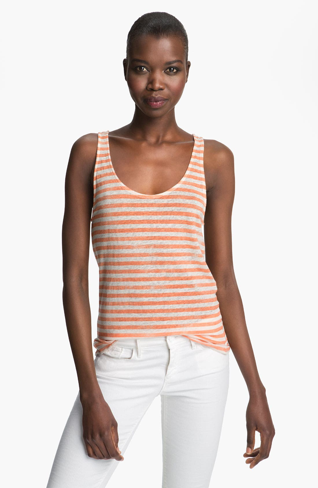 Alternate Image 1 Selected - Majestic Stripe Linen Tank