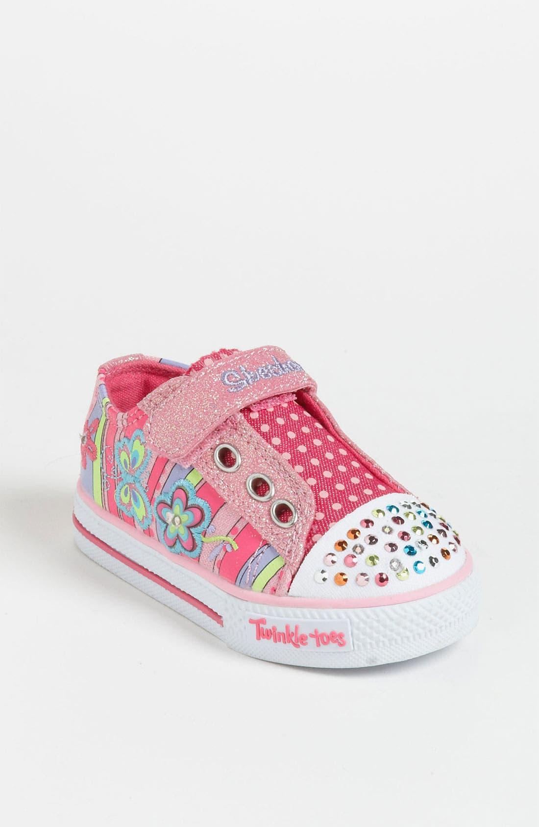 Main Image - SKECHERS 'Twinkle Toes - Shuffles' Sneaker (Walker & Toddler)