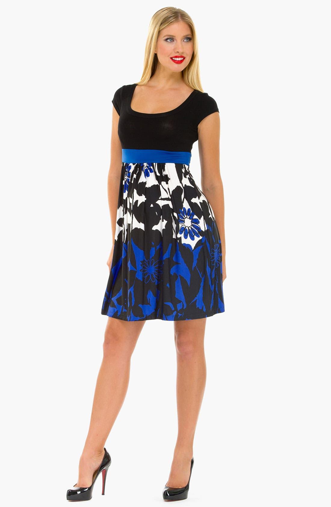 Alternate Image 1 Selected - Olian 'Arabesque' Print Maternity Dress