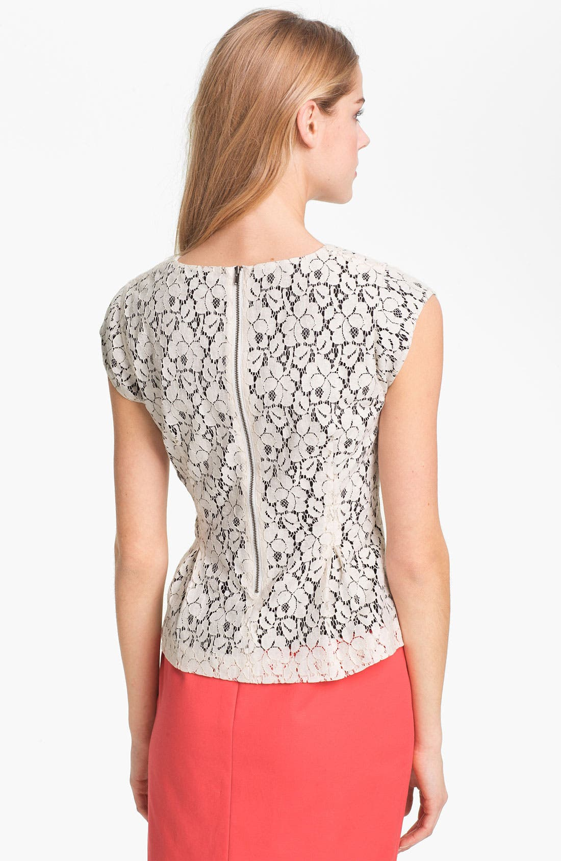 Alternate Image 2  - Halogen® Lace Peplum Top