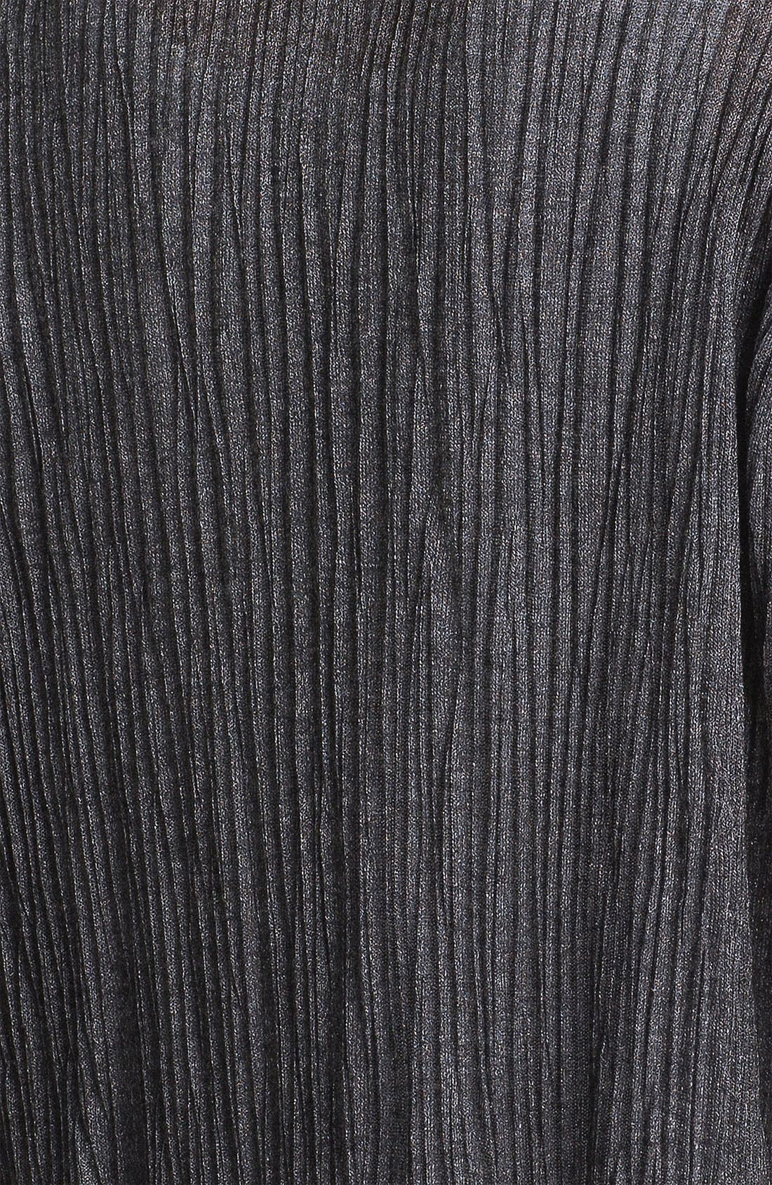 Alternate Image 3  - Eileen Fisher Crinkled Short Sleeve Cardigan (Petite)