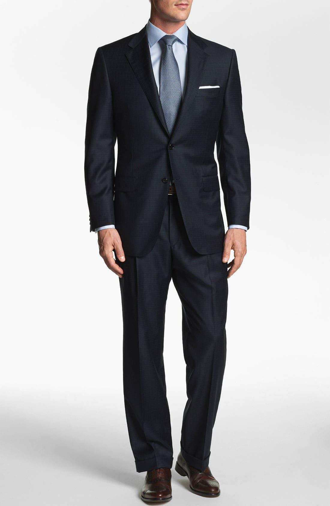 Alternate Image 2  - Hickey Freeman 'Addison' Check Suit