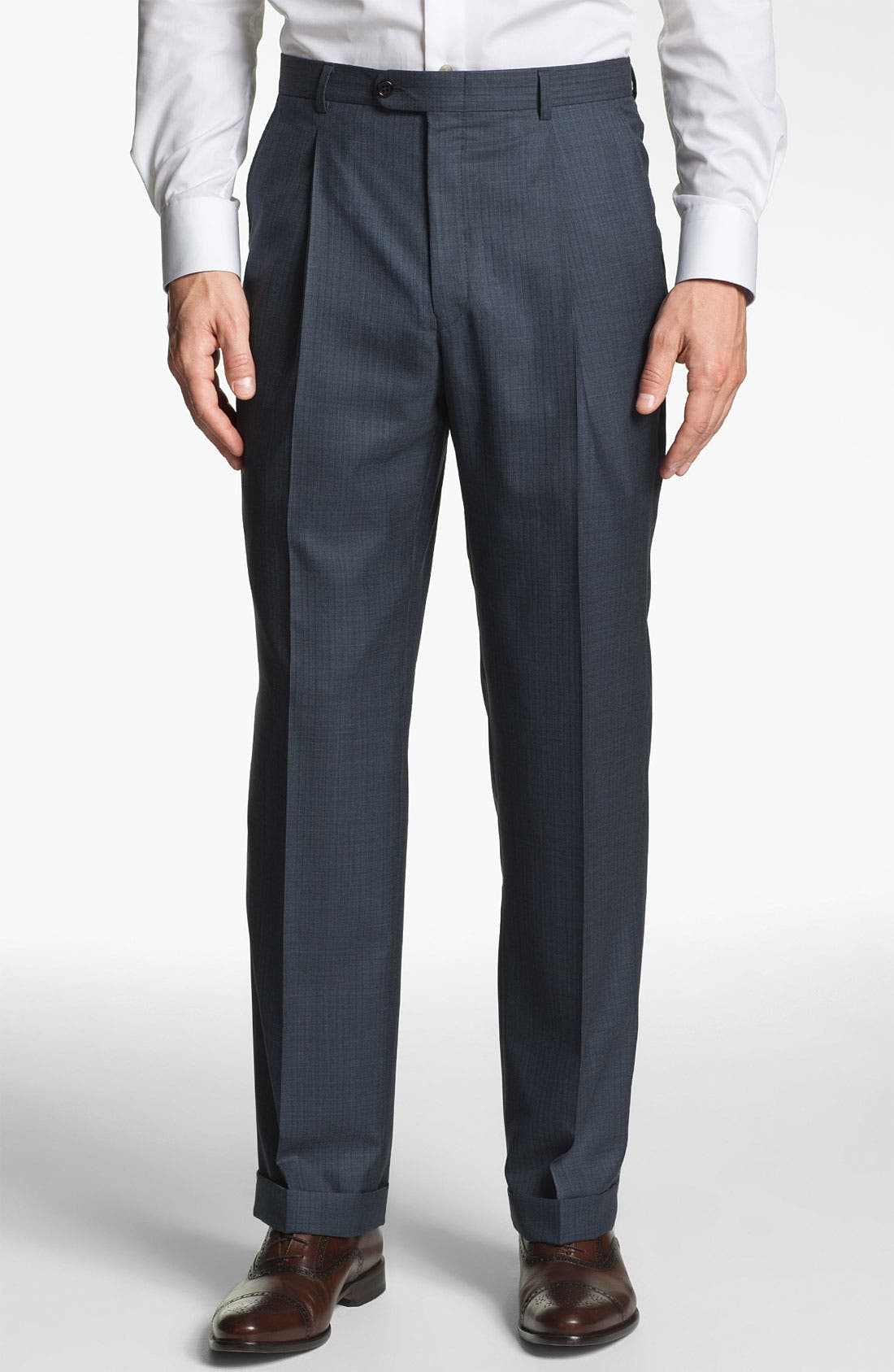 Alternate Image 5  - Hickey Freeman 'Addison' Stripe Suit