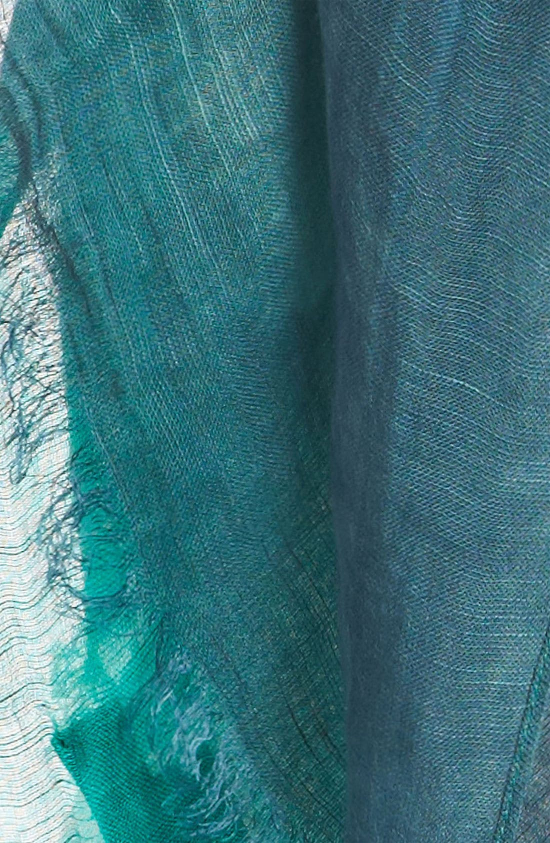 Alternate Image 2  - Sonia Rykiel 'Tricolor' Linen Blend Stole