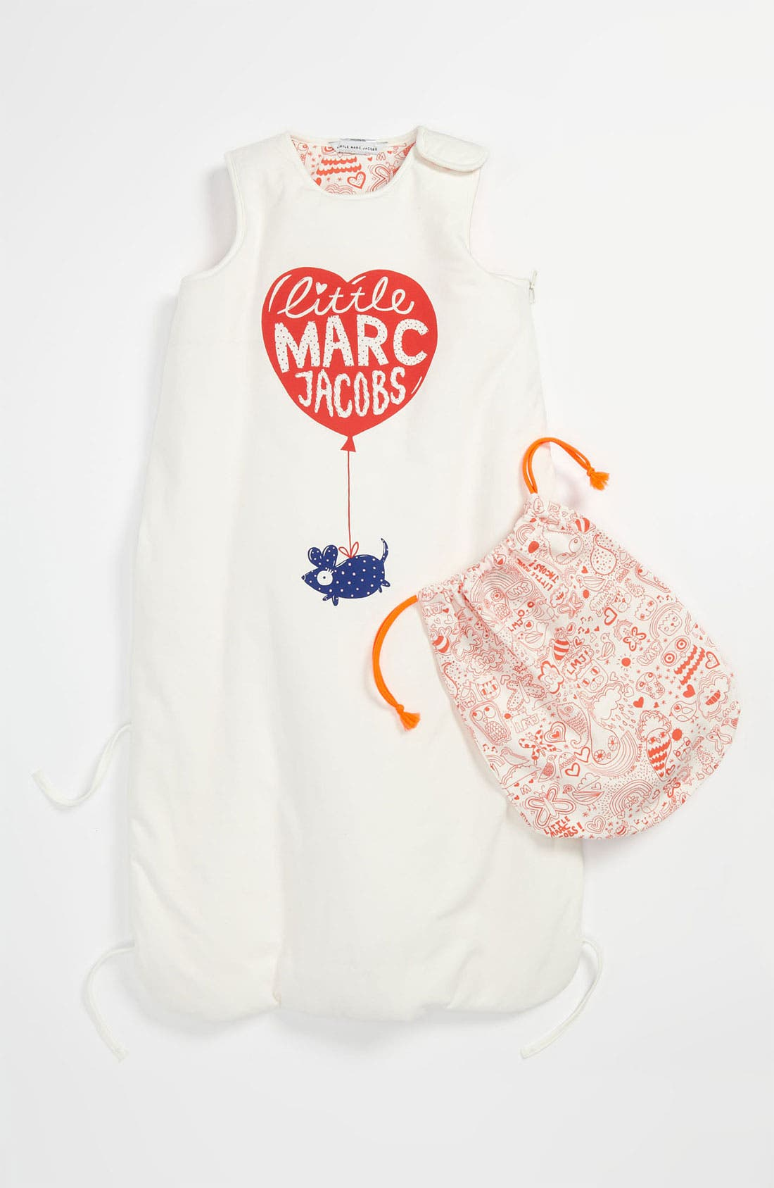 Alternate Image 1 Selected - LITTLE MARC JACOBS Reversible Bunting (Baby)
