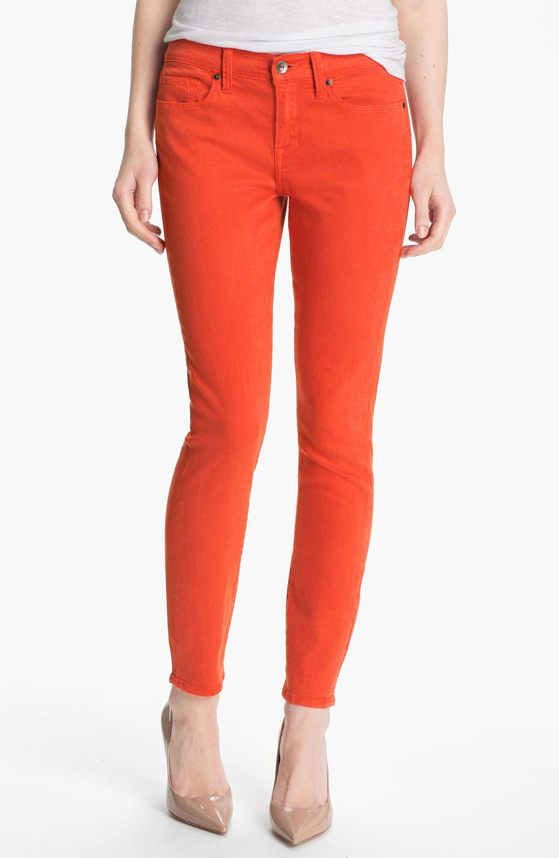 Main Image - Lucky Brand 'Sofia' Colored Denim Skinny Jeans