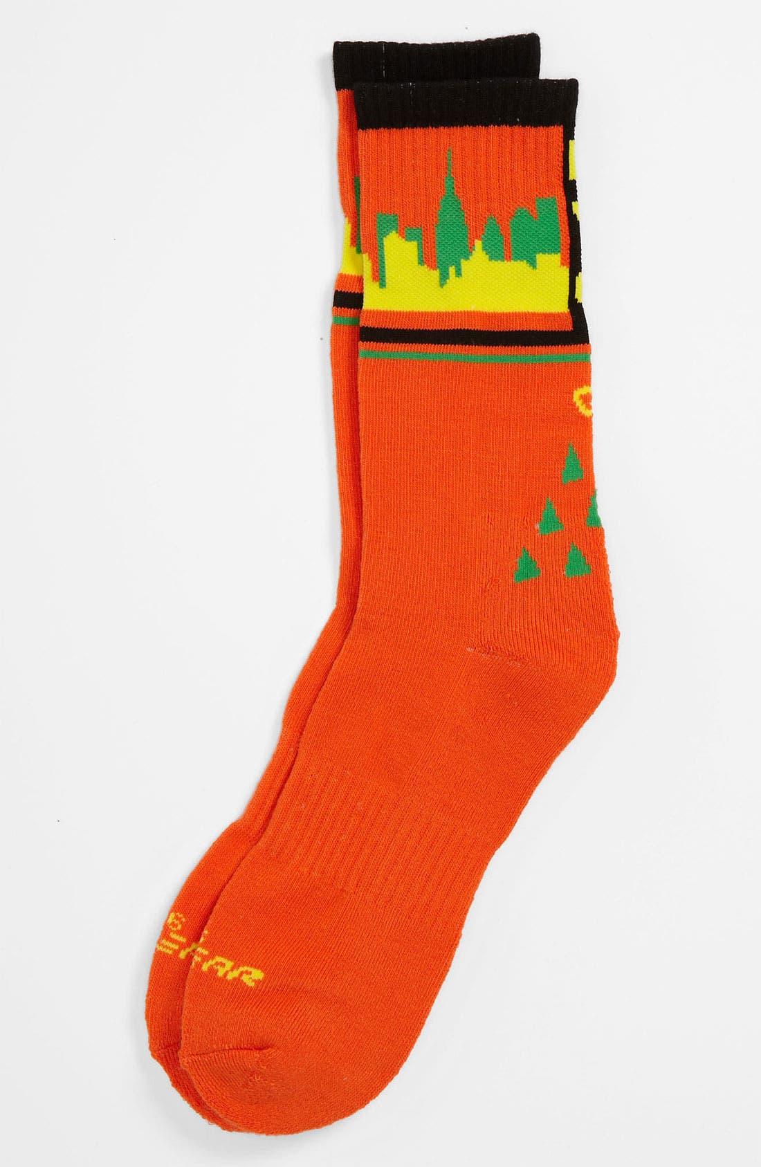 Alternate Image 1 Selected - G 206 Wear 'New York' Socks (Big Kid)