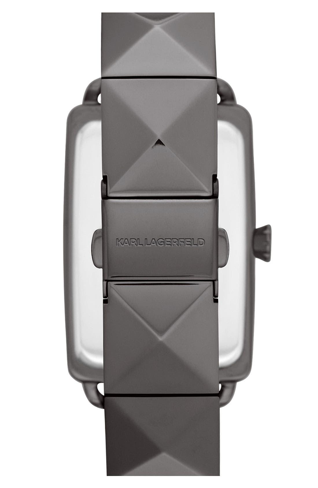 'Kourbe' Rectangular Bracelet Watch, 28mm x 41mm,                             Alternate thumbnail 3, color,                             Gunmetal