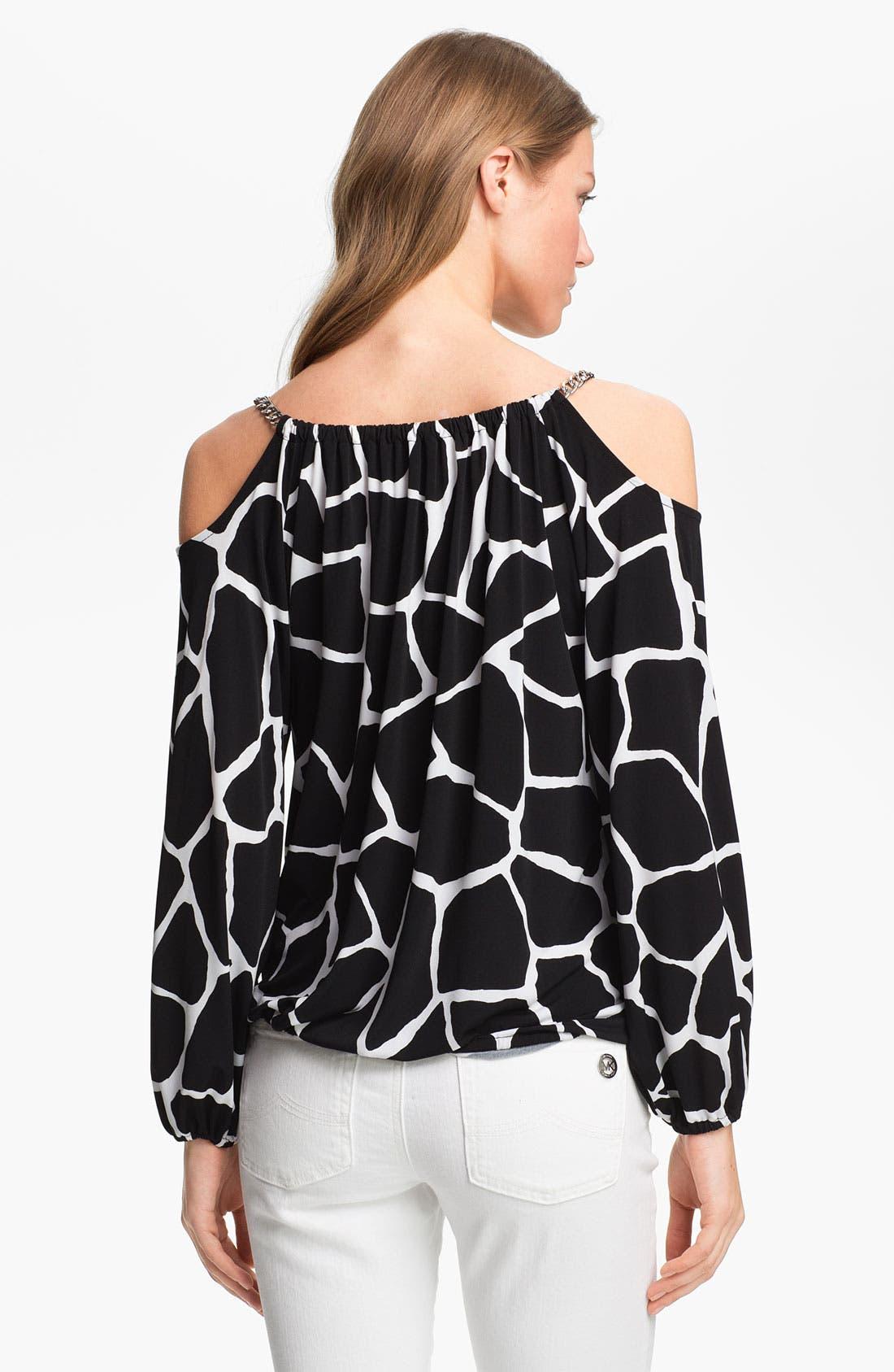 Alternate Image 2  - MICHAEL Michael Kors Shoulder Chain Top