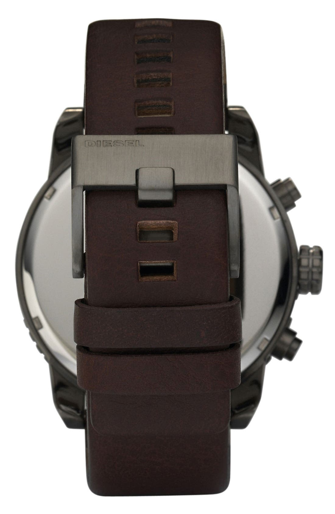 Alternate Image 2  - DIESEL® 'Double Down' Large Chronograph Watch, 51mm
