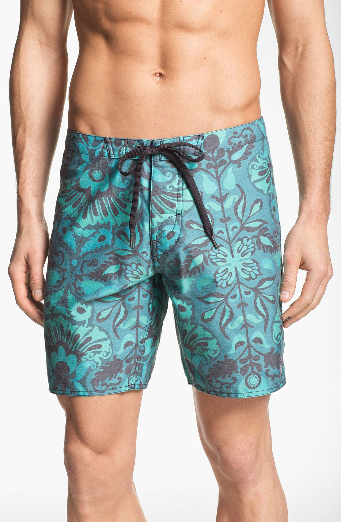 'NPJ 2' Board Shorts,                             Main thumbnail 1, color,                             Blue