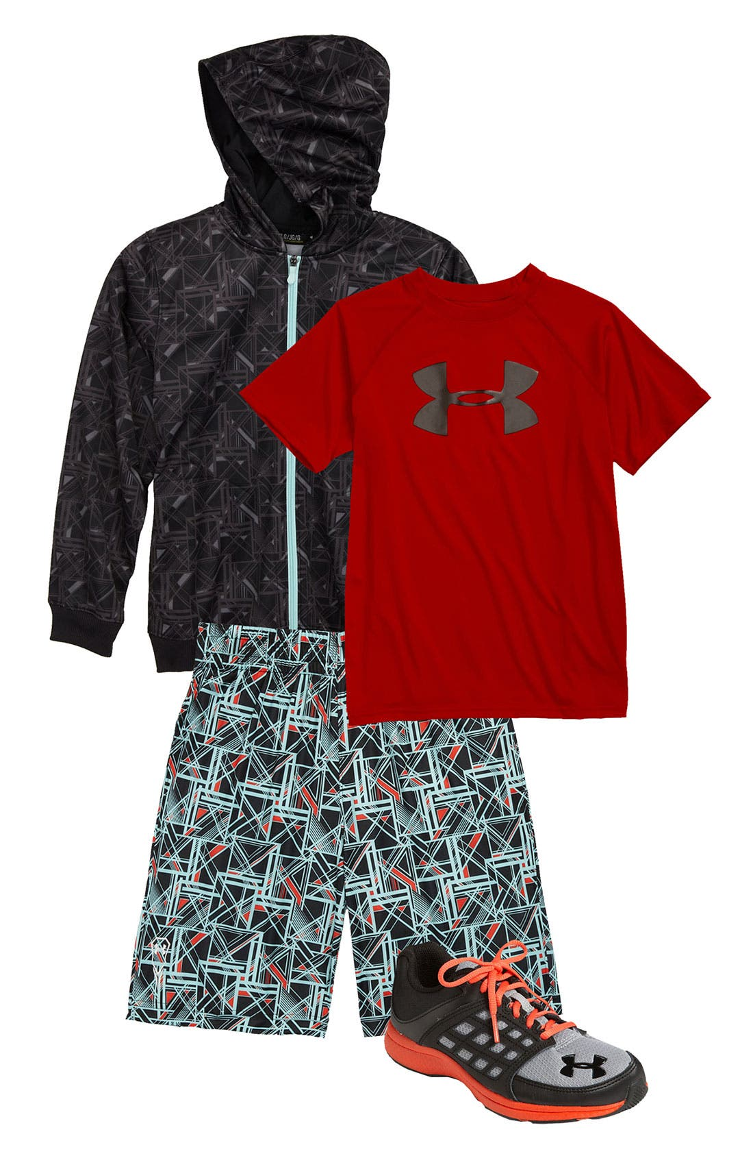 Alternate Image 1 Selected - Under Armour T-Shirt, Shorts & Hoodie (Big Boys)